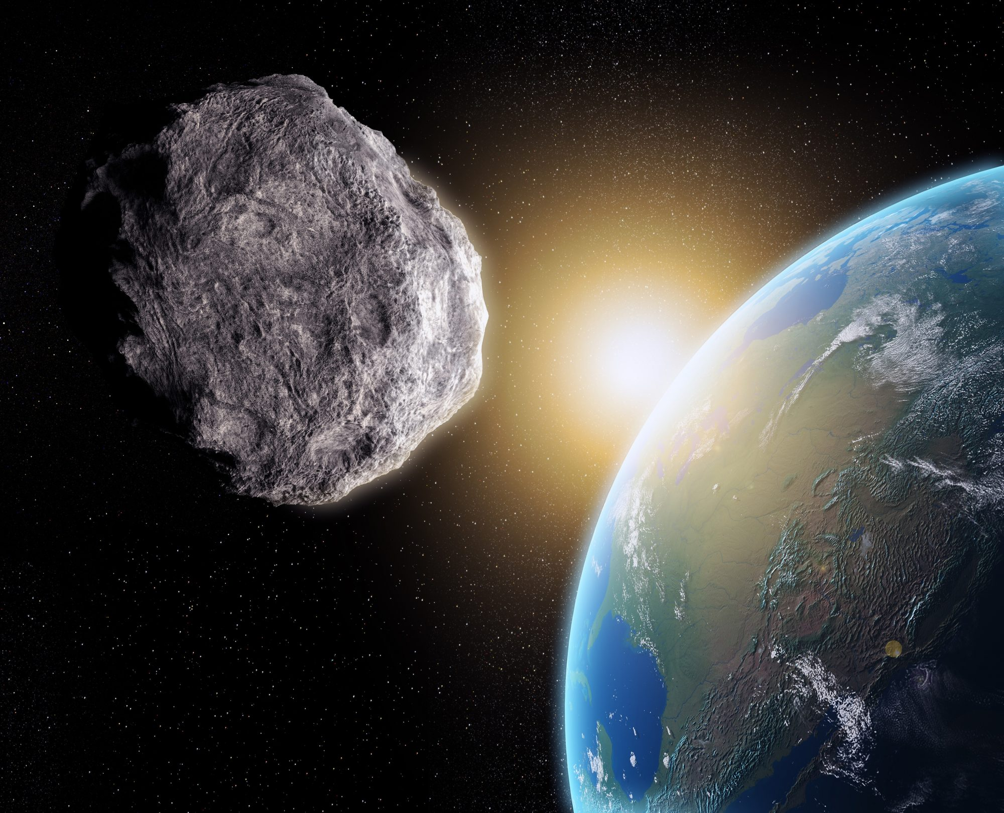 An asteroid approaching Earth