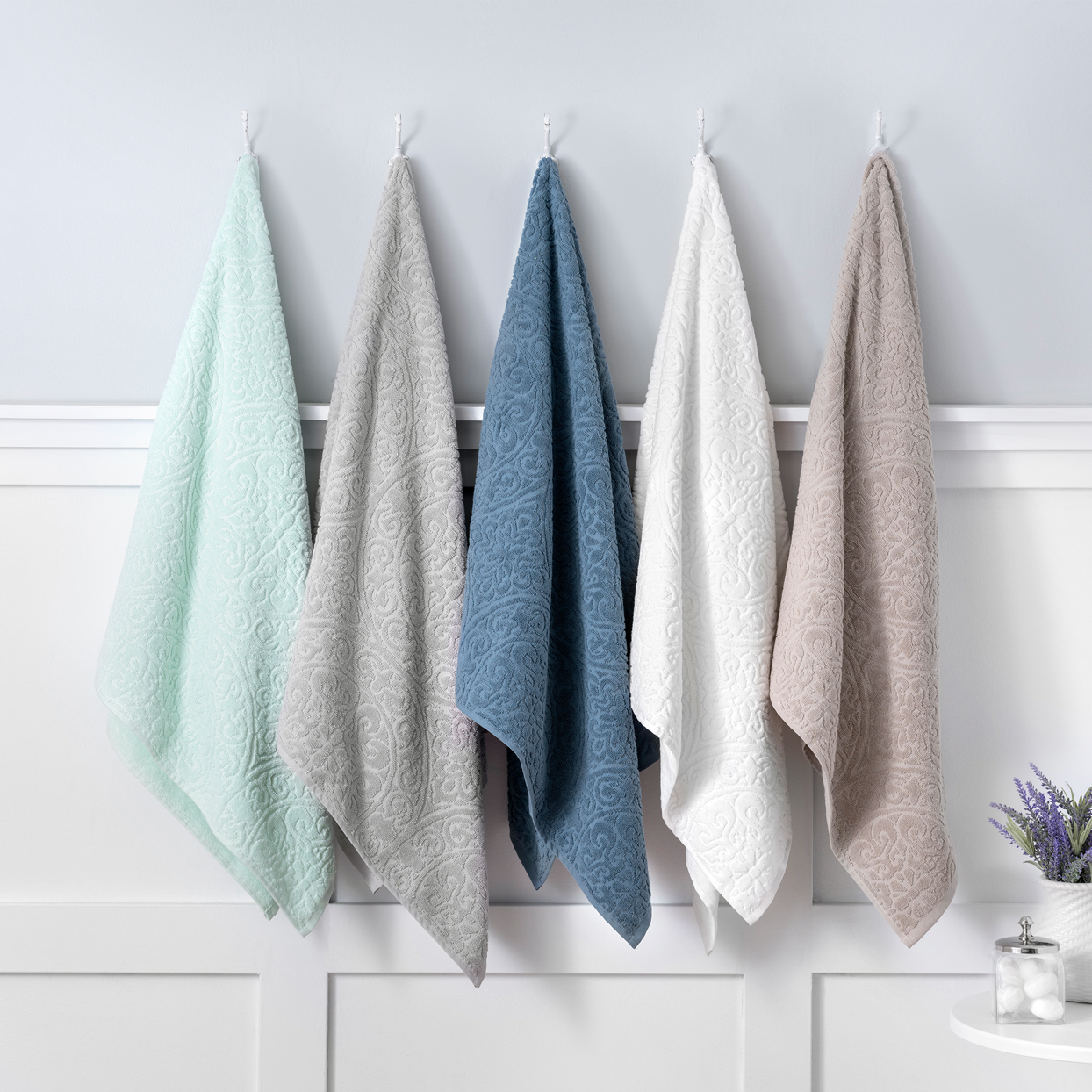 martha stewart collection absorbent sculpted towels