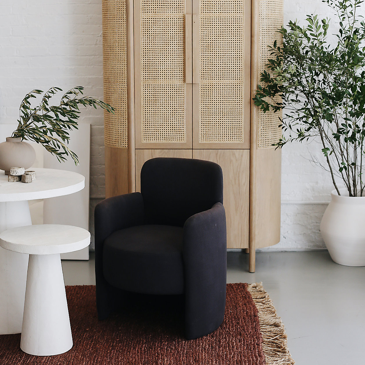 Crate and Barrel Fields Natural Storage Cabinet