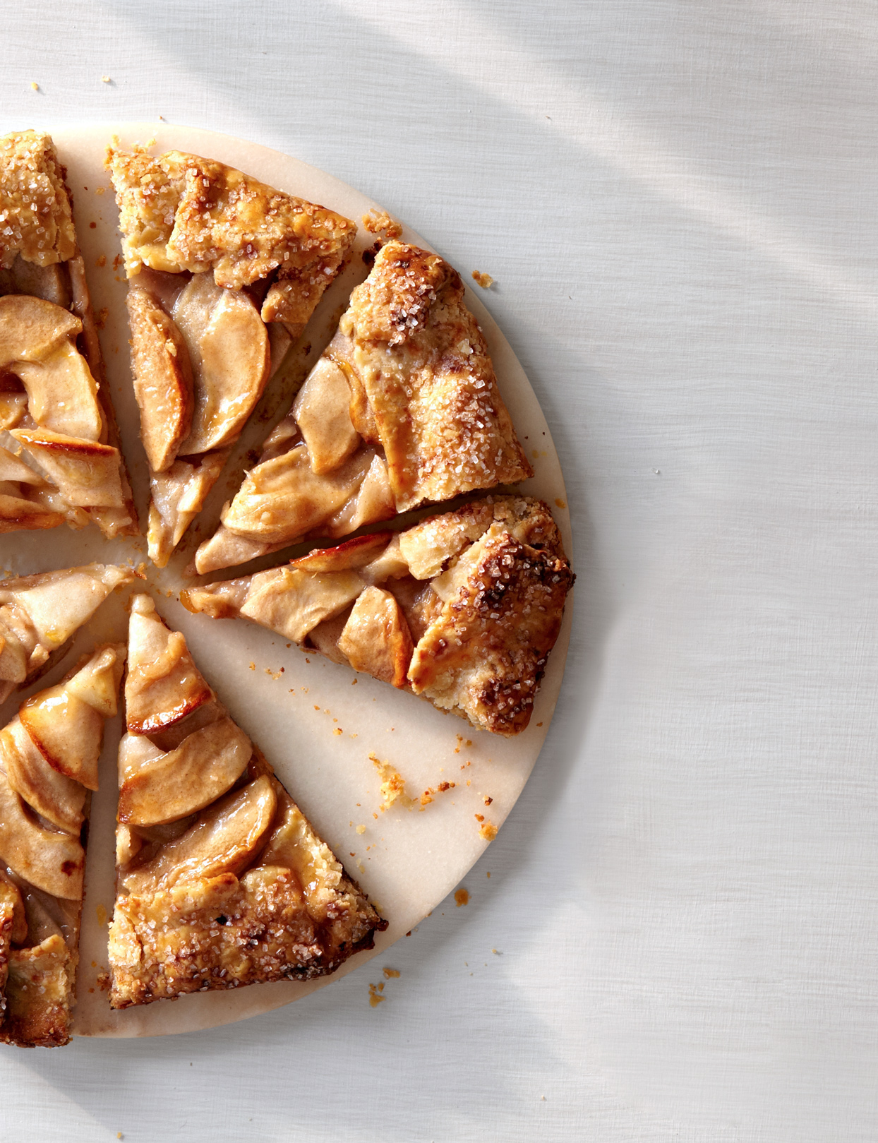 apple galette with easy piecrust sliced