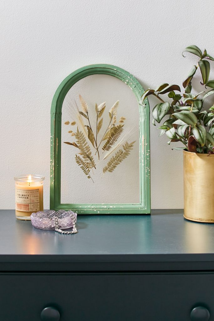 dried floral wall art