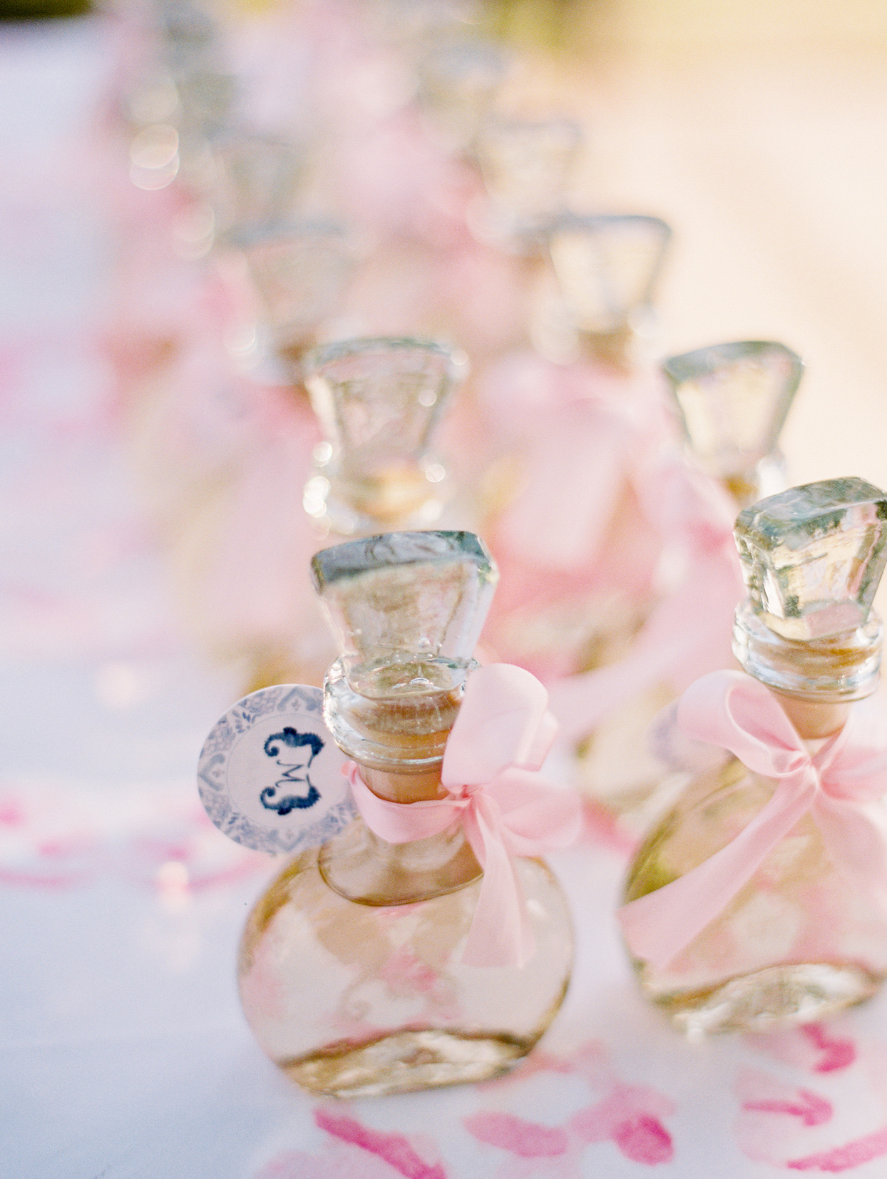 wedding escort crystal bottles of tequila