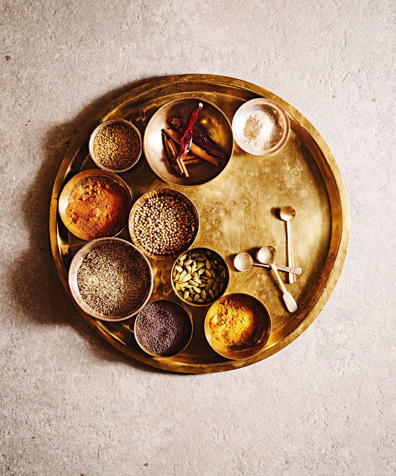 Indian Spices on Tray