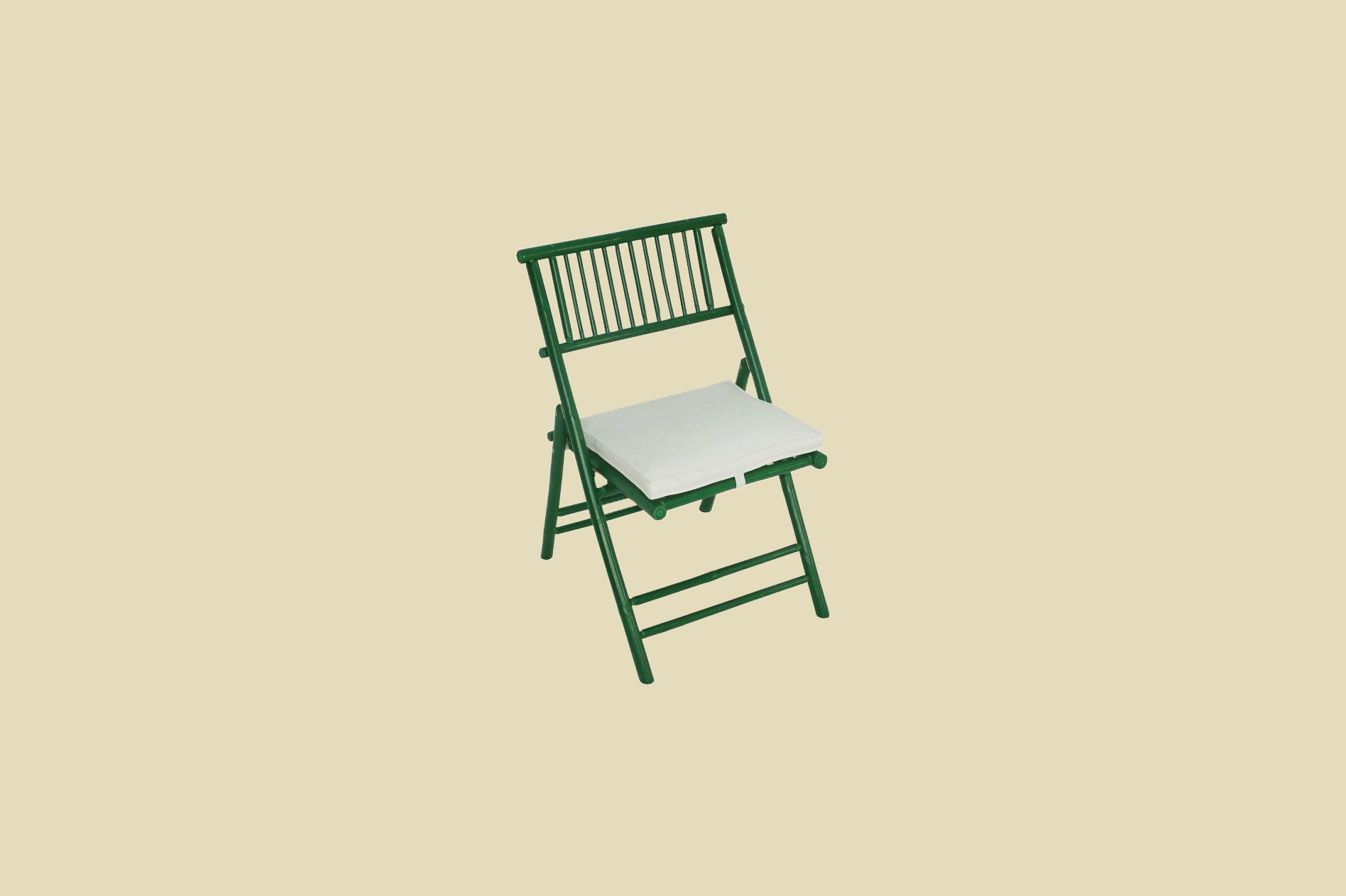 Green Statra Bamboo Folding Accent Outdoor Dining Chair