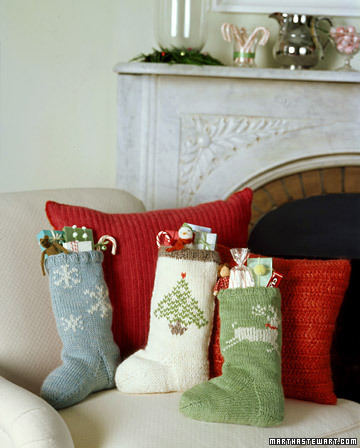 Sock Pattern for Knit Christmas Stockings