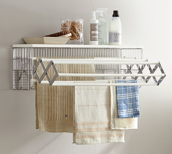 Wall-Mounted Laundry Drying Rack