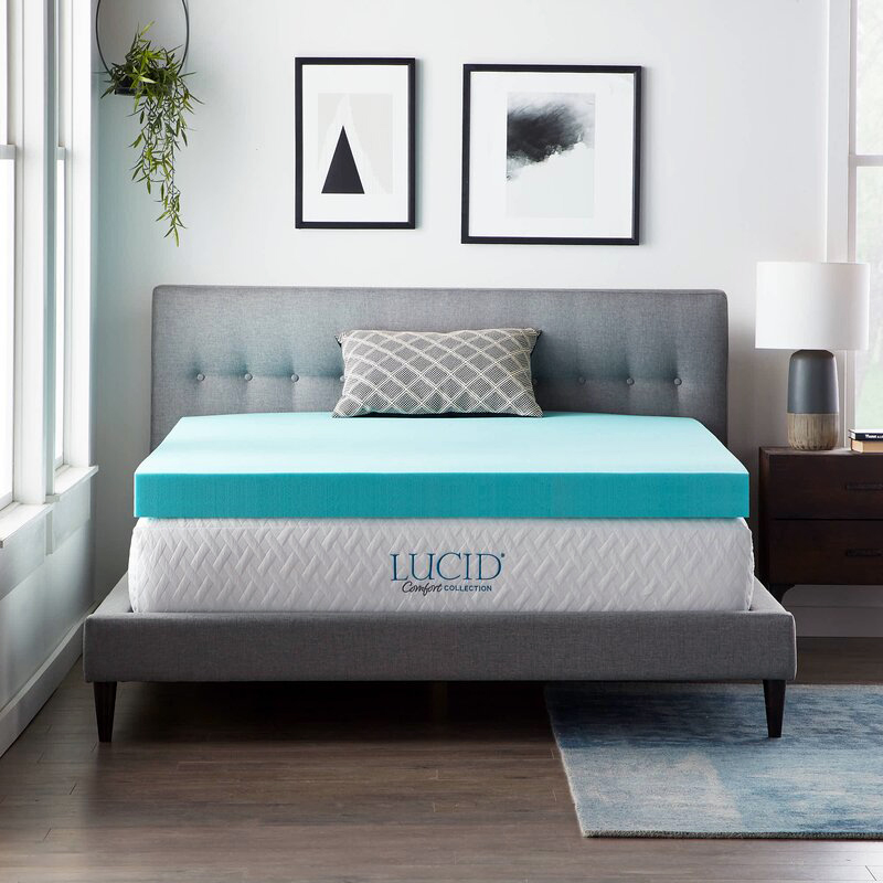 lucid comfort collection mattress topper