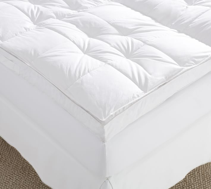 pottery barn luxury down top featherbed