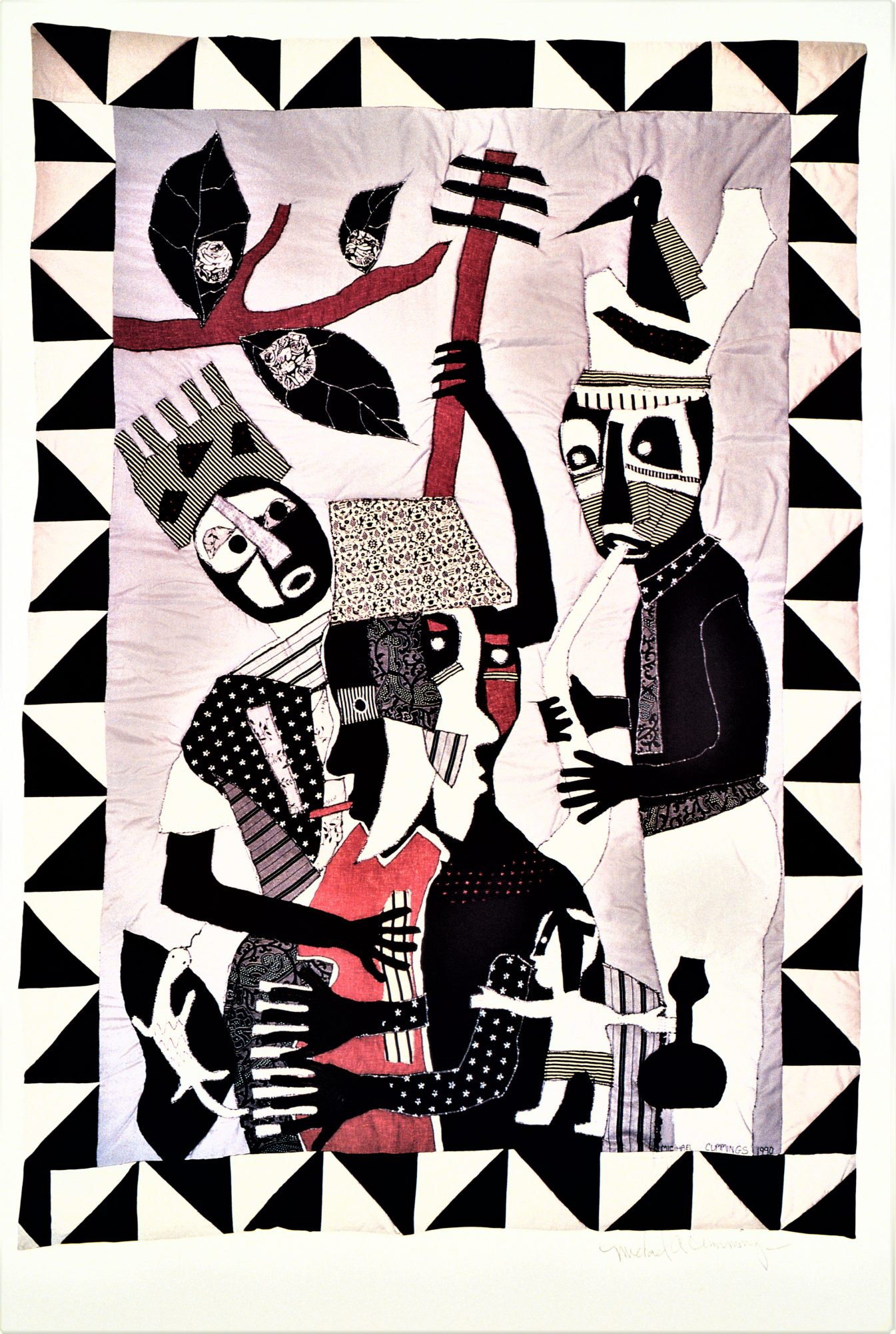 """""""African Jazz"""" quilt by Michael A. Cummings"""