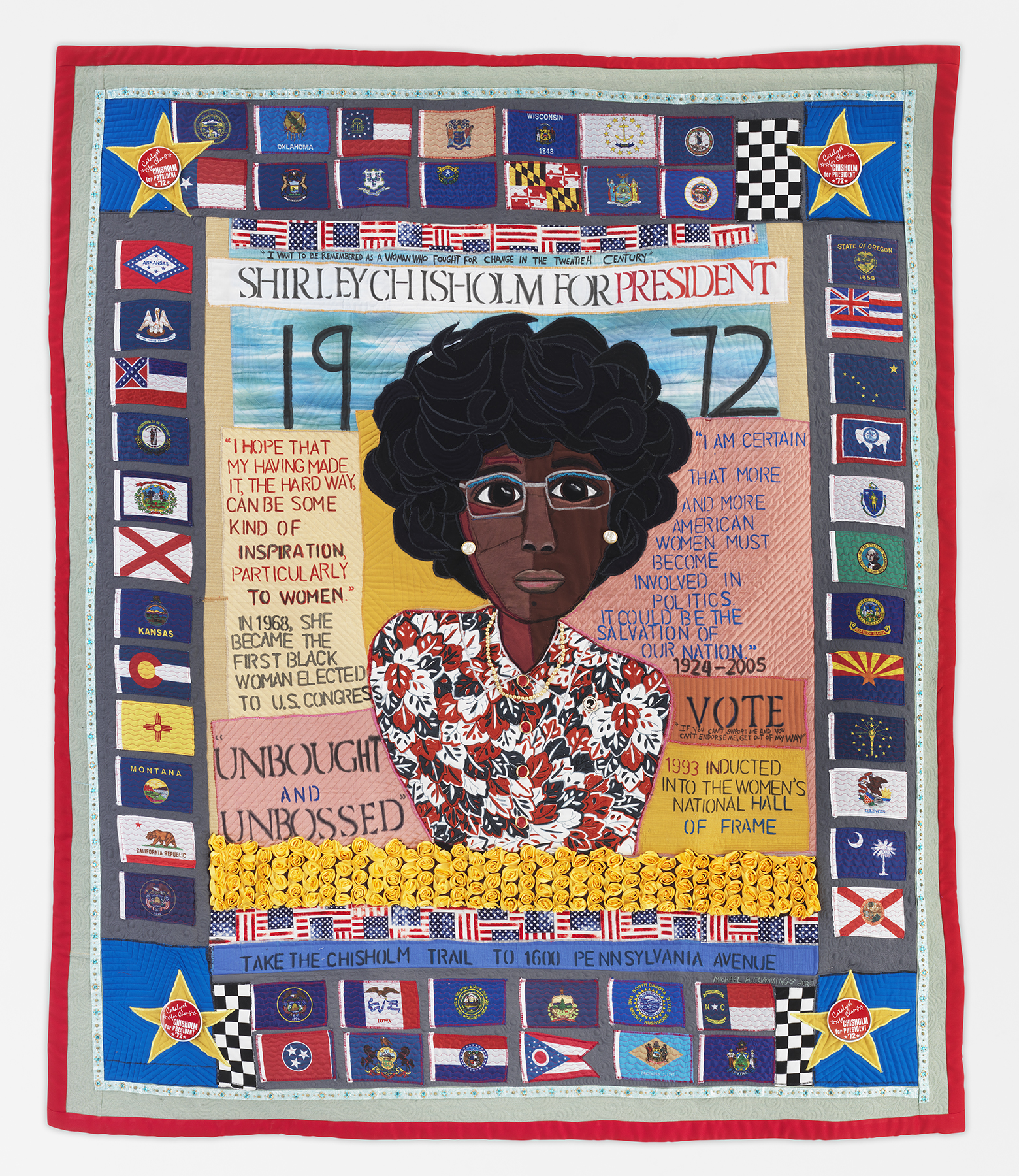 Shirley Chischolm quilt by Michael A. Cummings