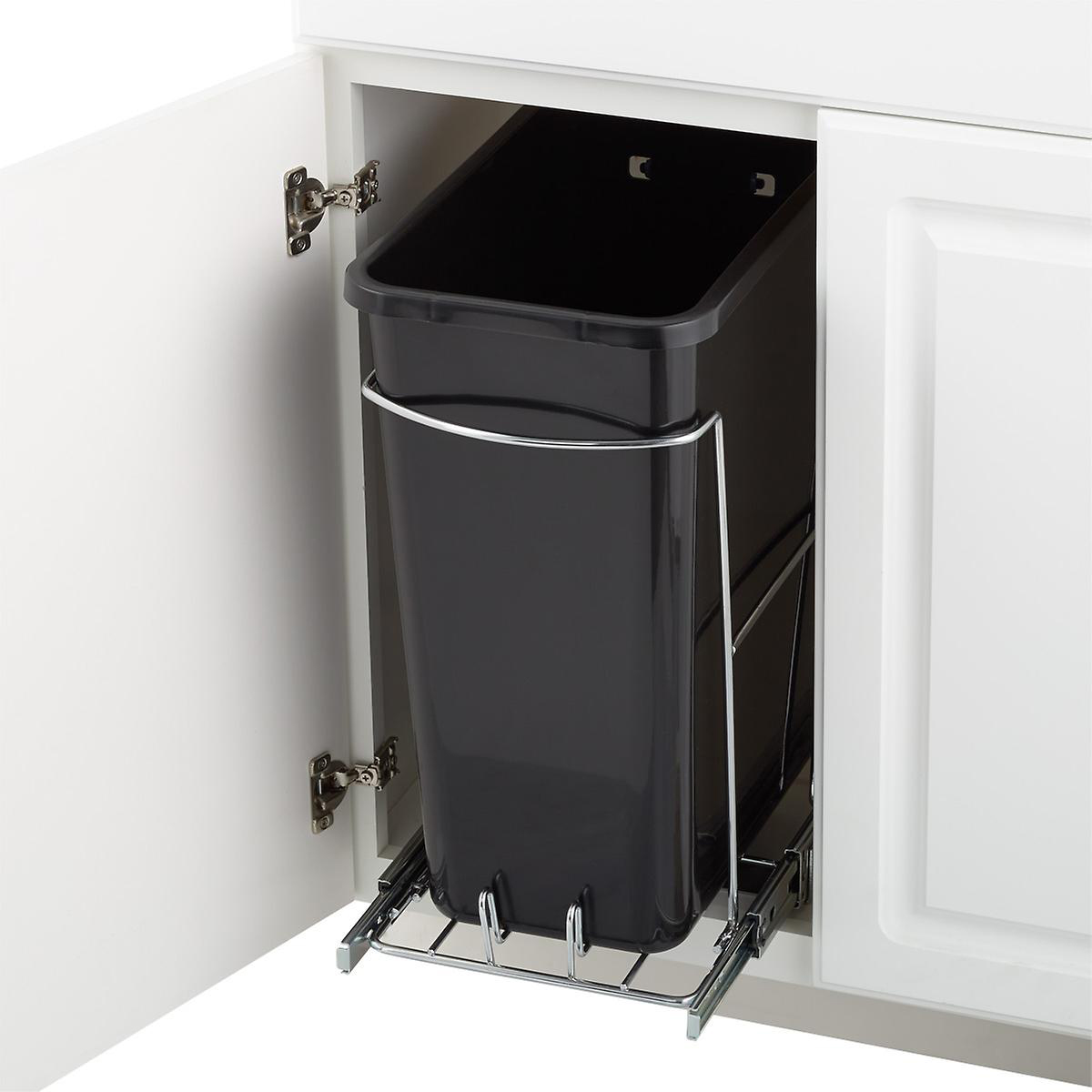 The Container Store Eight Gallon Pull-Out Trash Can
