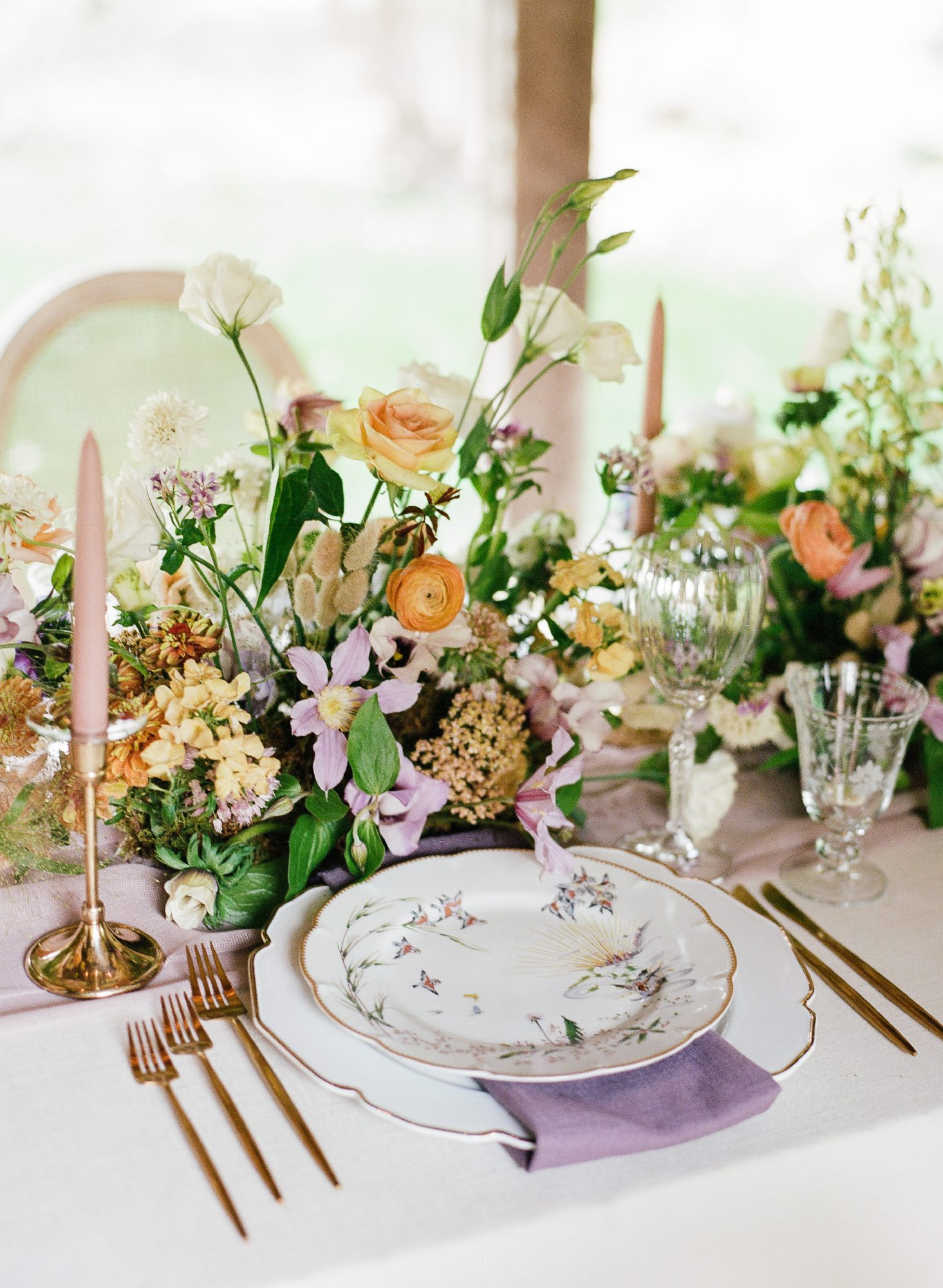 whimsical wedding place settings