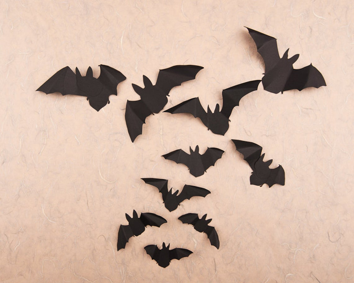 Hip and Clavicle Black Paper Bats