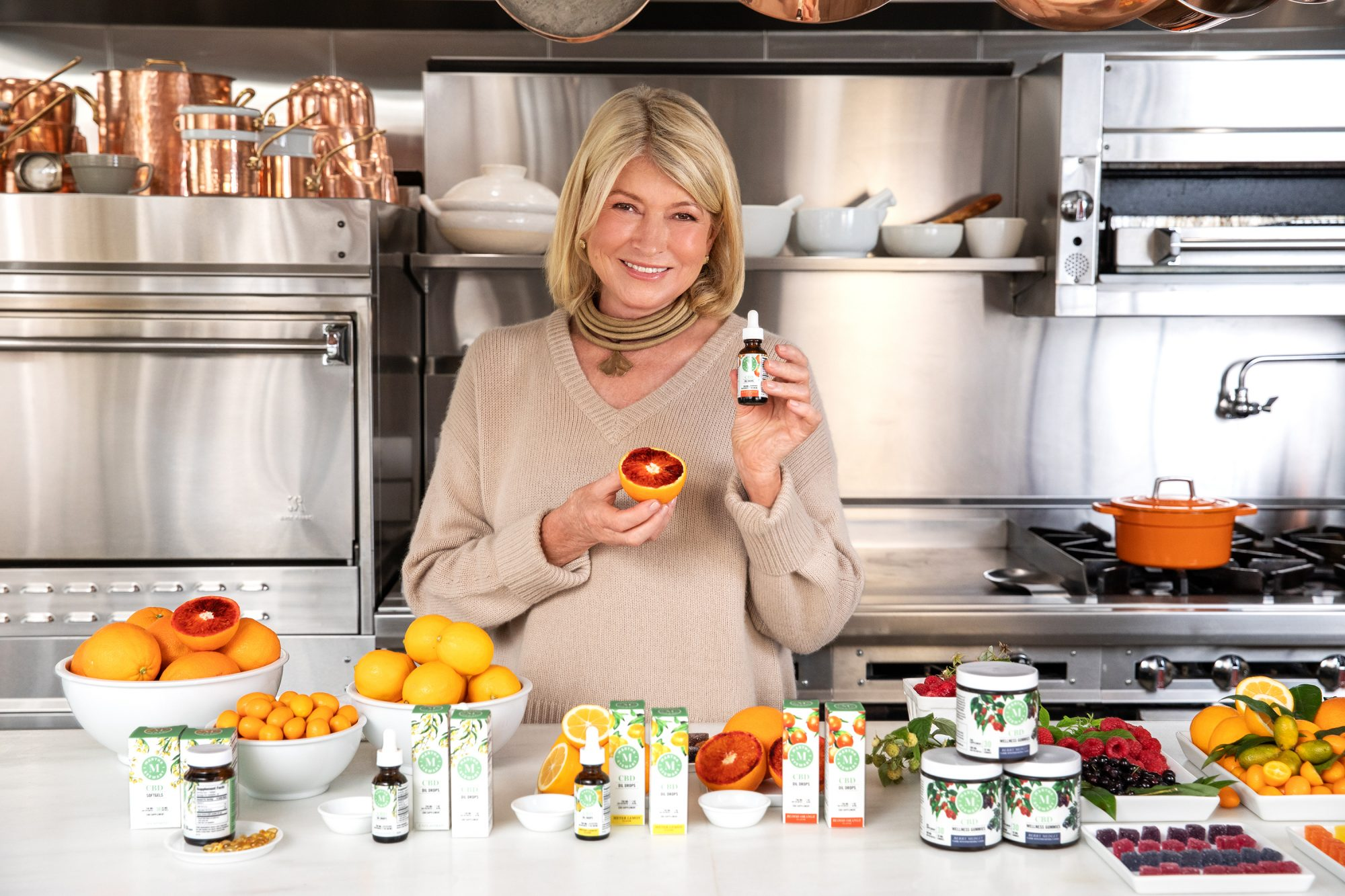 Martha Stewart with New Line of CBD Products from Canopy Growth