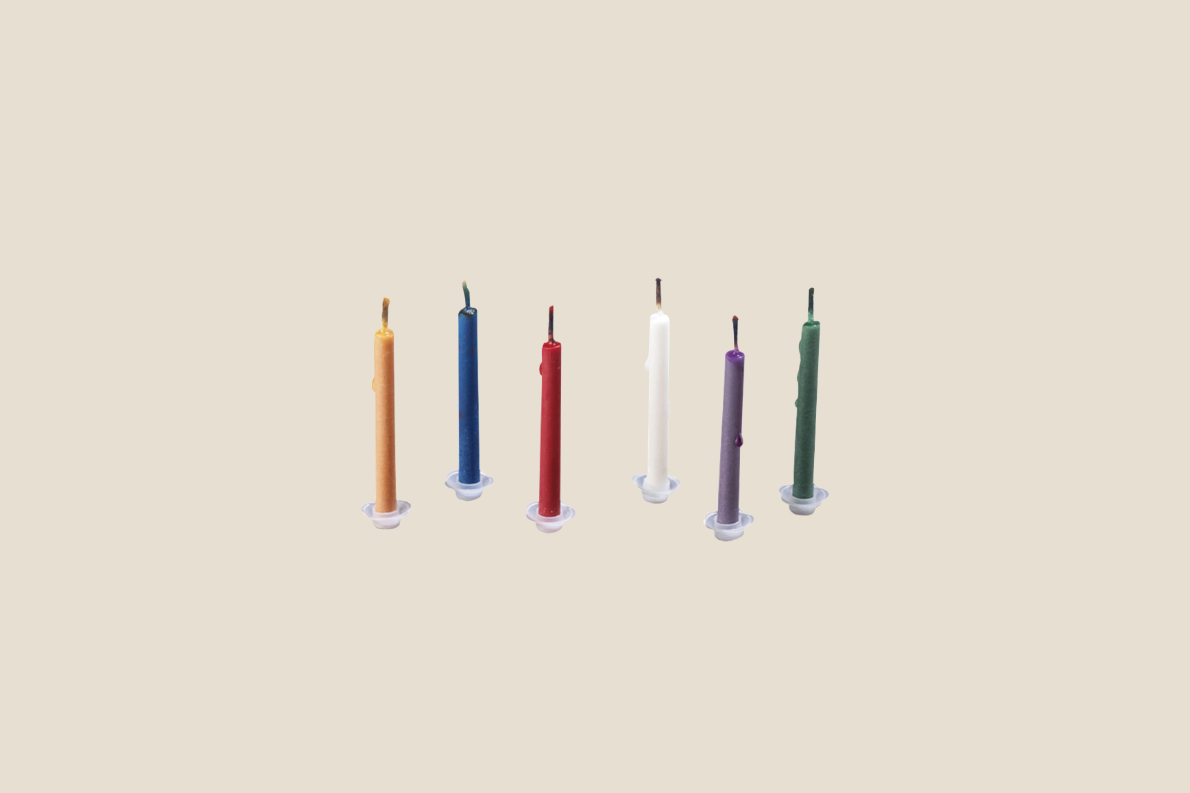 moma store colored flame birthday candles