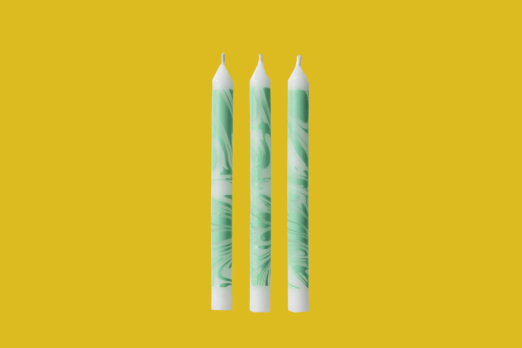 party city green marble birthday candles