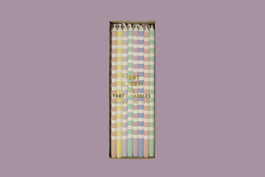 toot sweet pastel stripes party candles