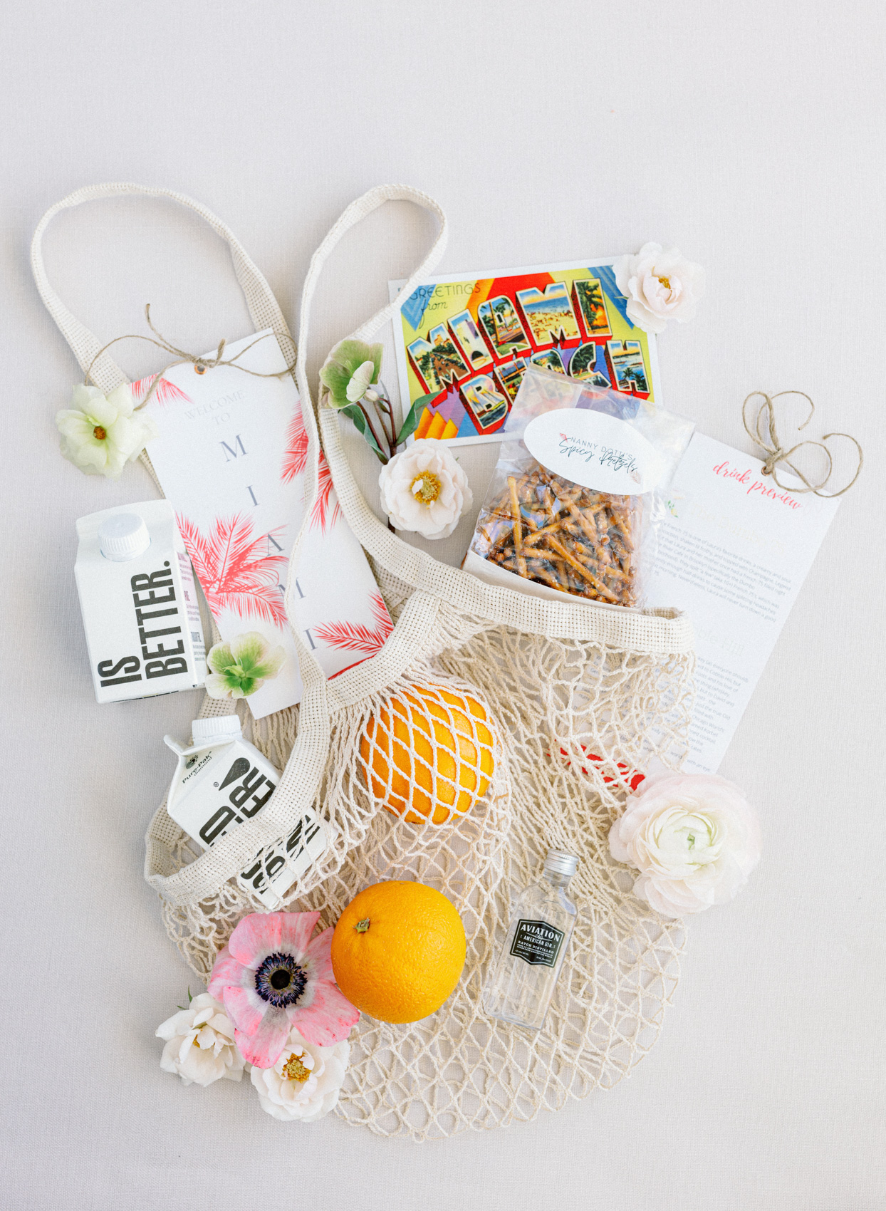 miami destination wedding welcome bag
