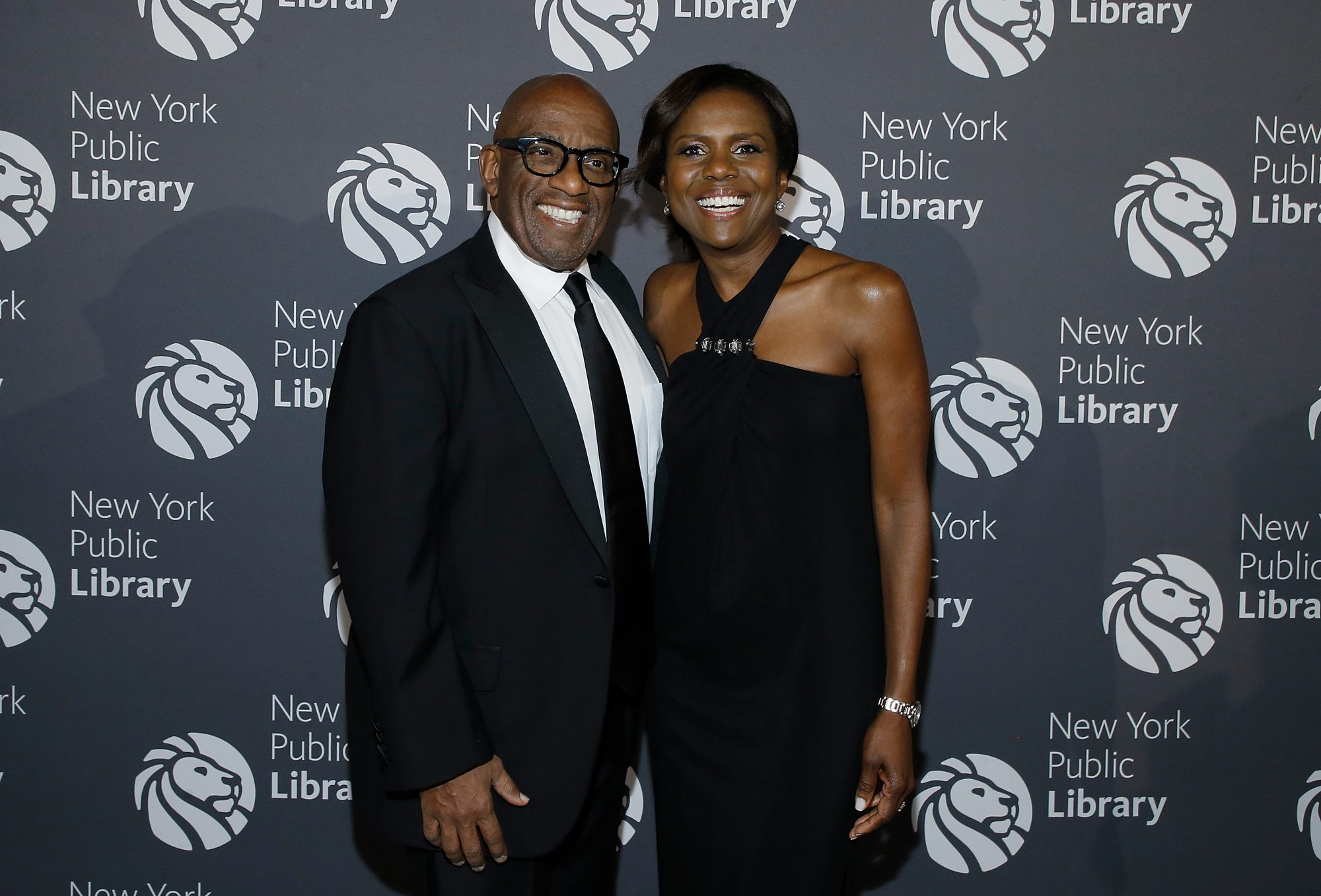 al roker and deborah roberts at the New York Public Library 2017 Library Lions Gala