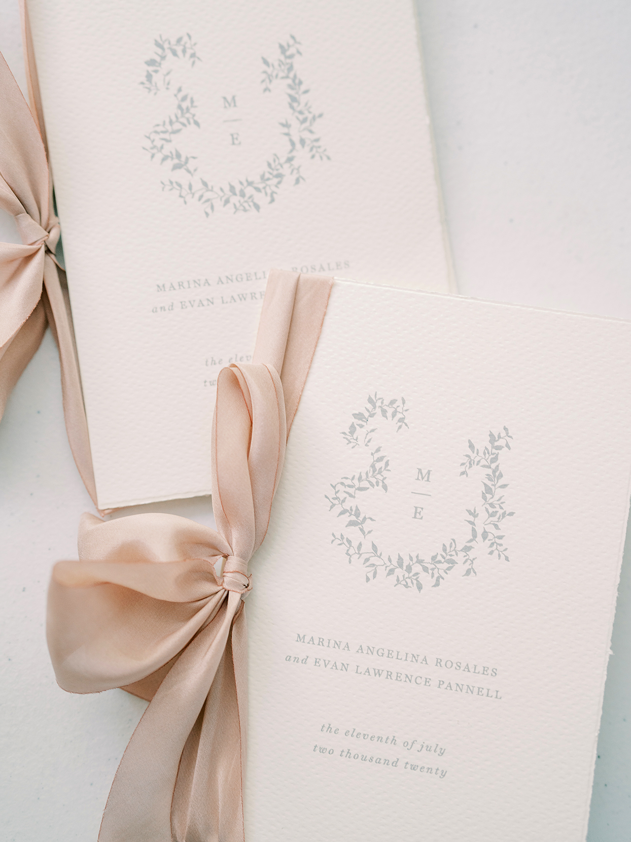 marina evan wedding vow books