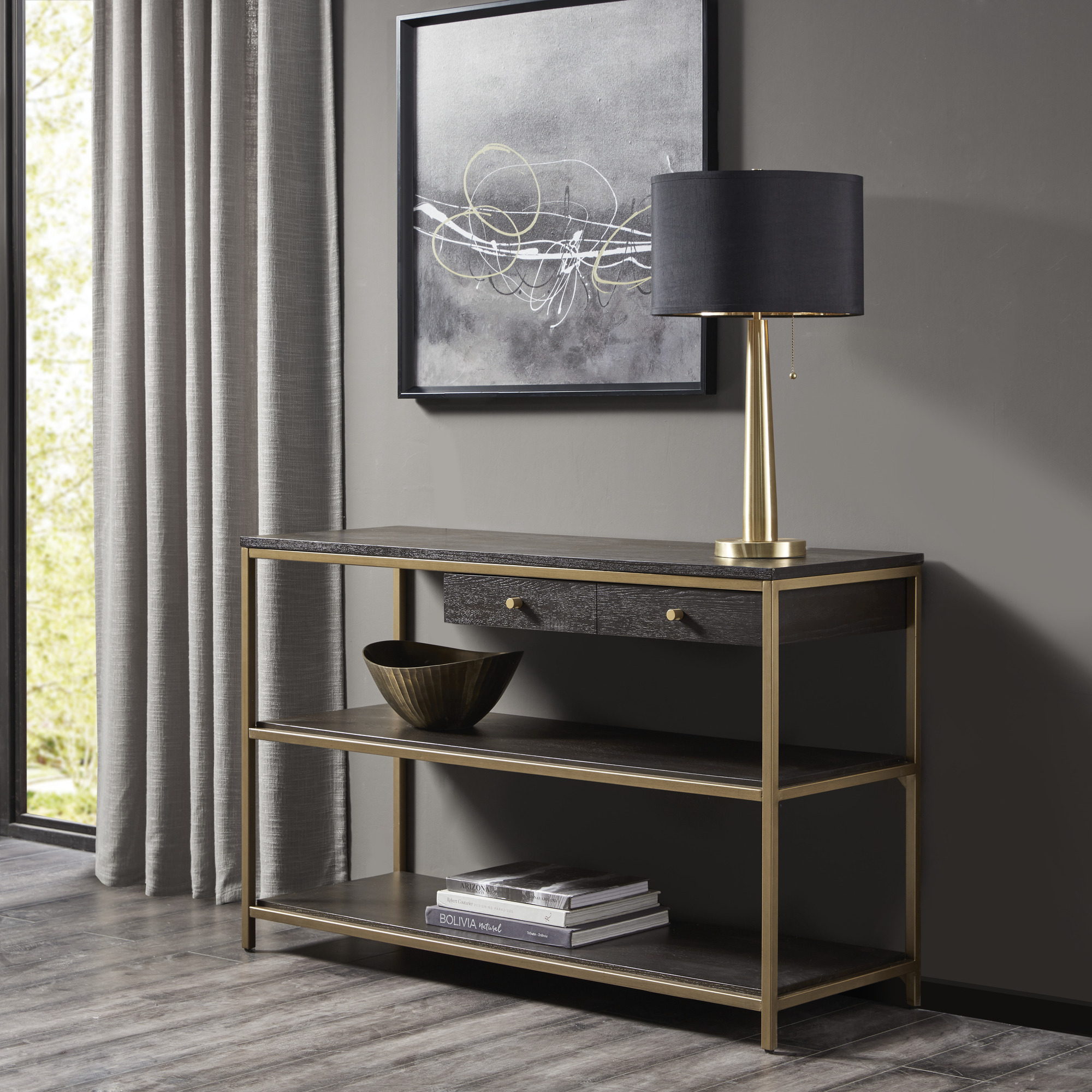 """Martha Stewart Collection """"Holls"""" Console, Console Table"""