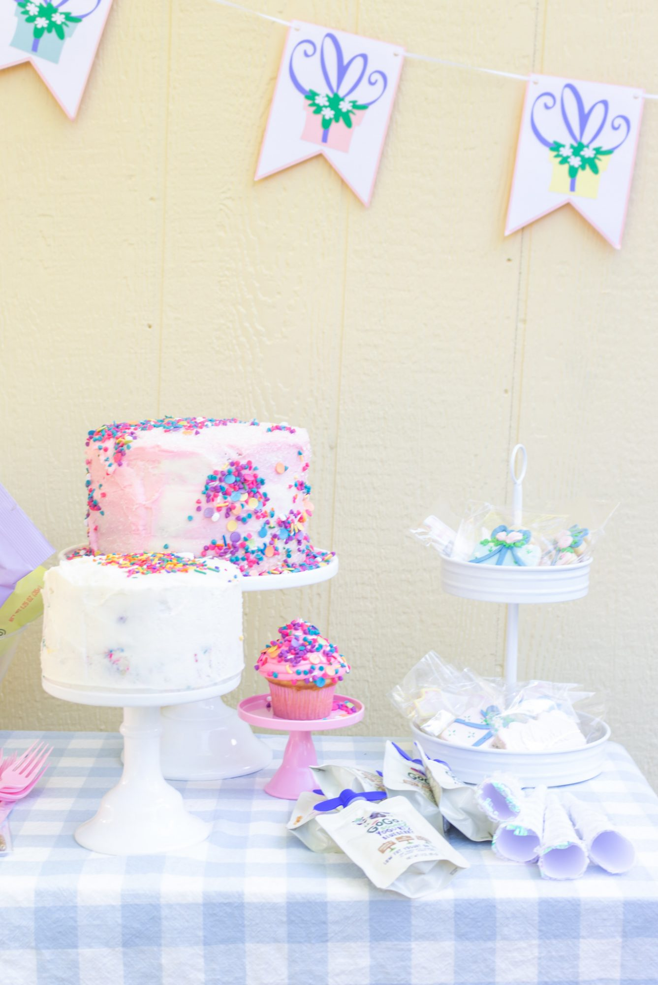 baked desserts for baby Claire's virtual birthday cake smash