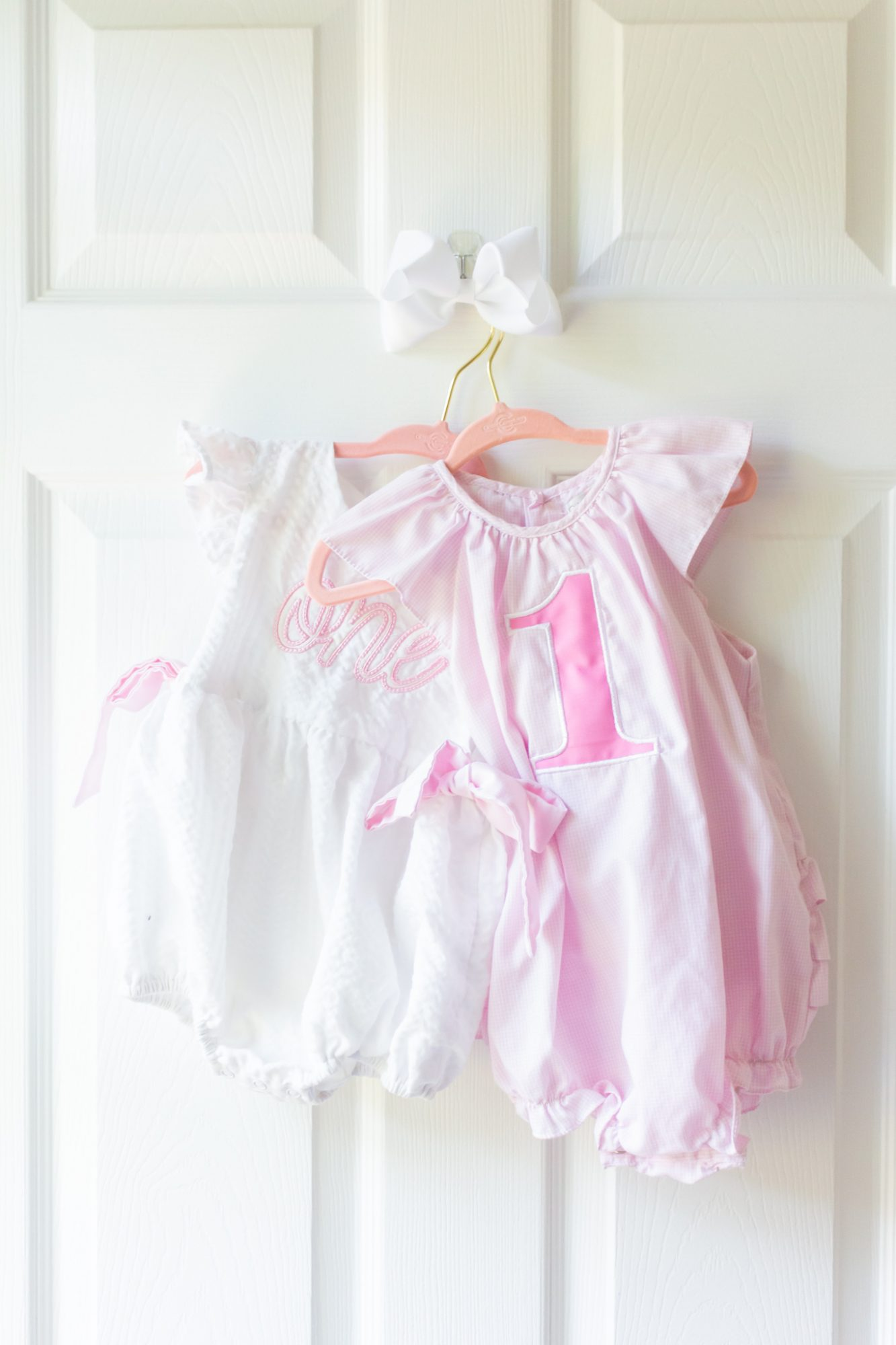 dresses for baby Claire's virtual birthday cake smash