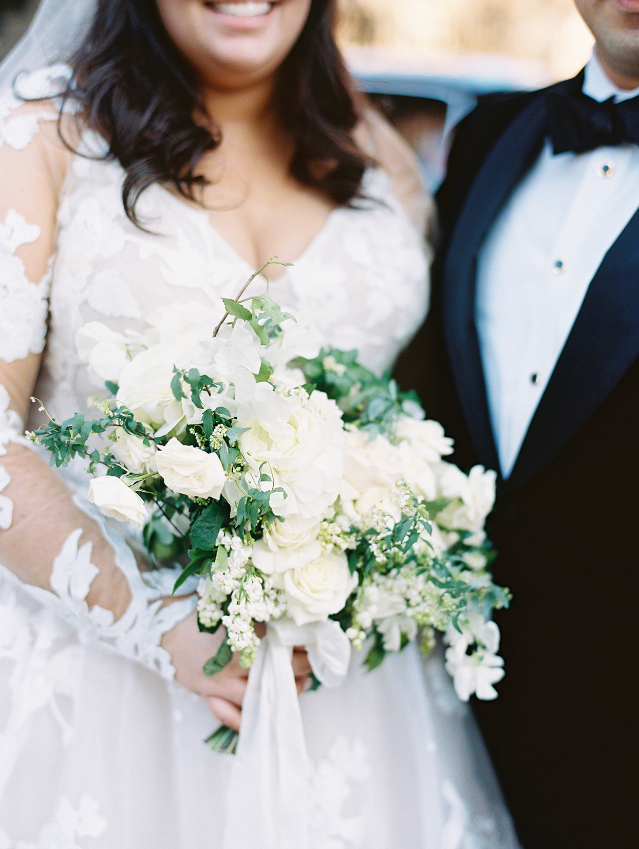 white and green bride's bouquet by Kaleidoscope Floral