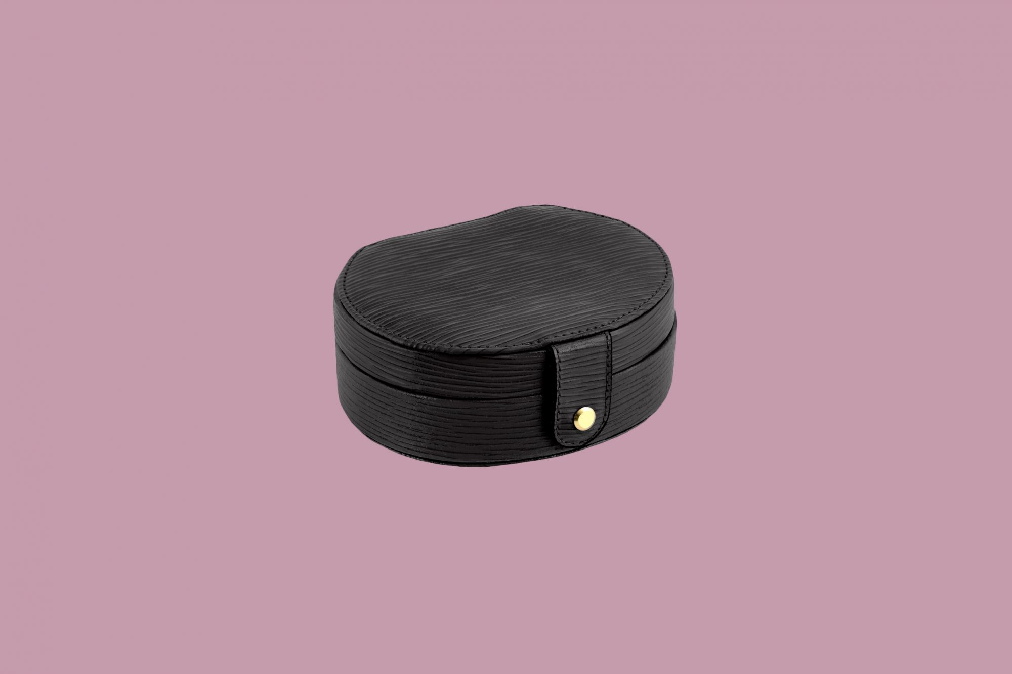 Scully & Scully Wave Leather Oval Jewelry Box