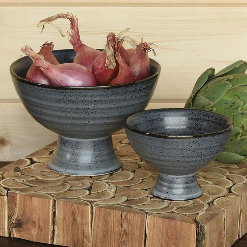 Jungalow Matte Footed Bowl Set
