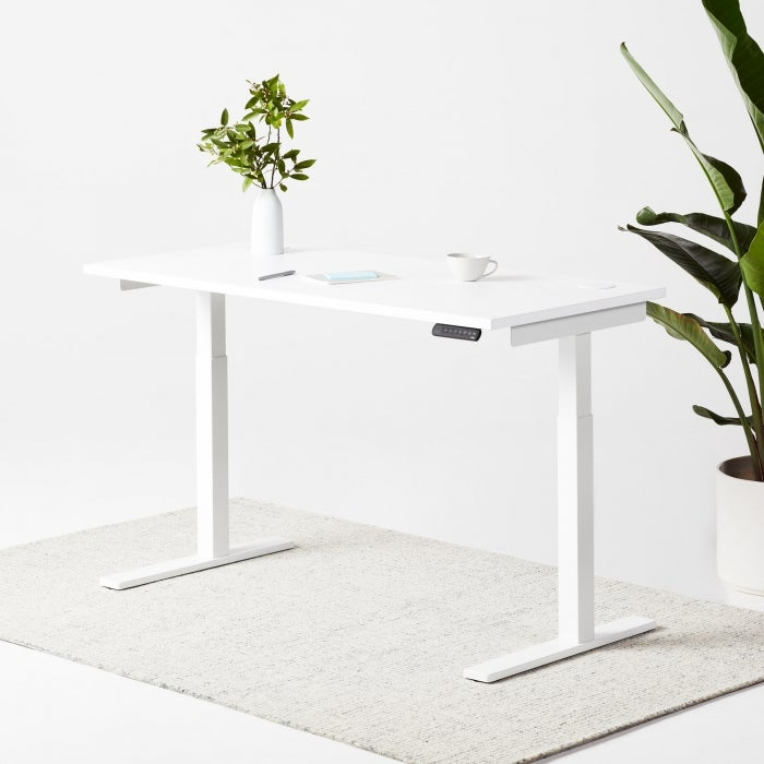 white fully remi standing desk