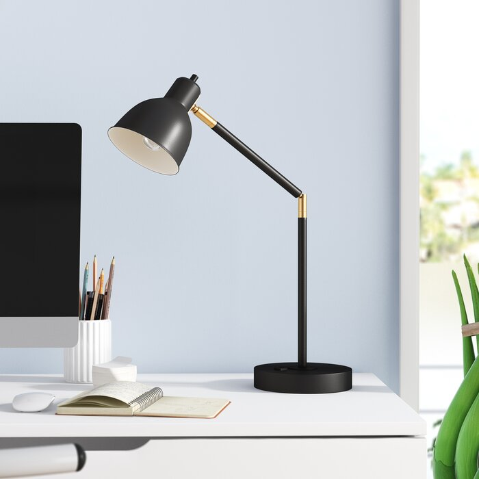 wrought studio markey black desk lamp