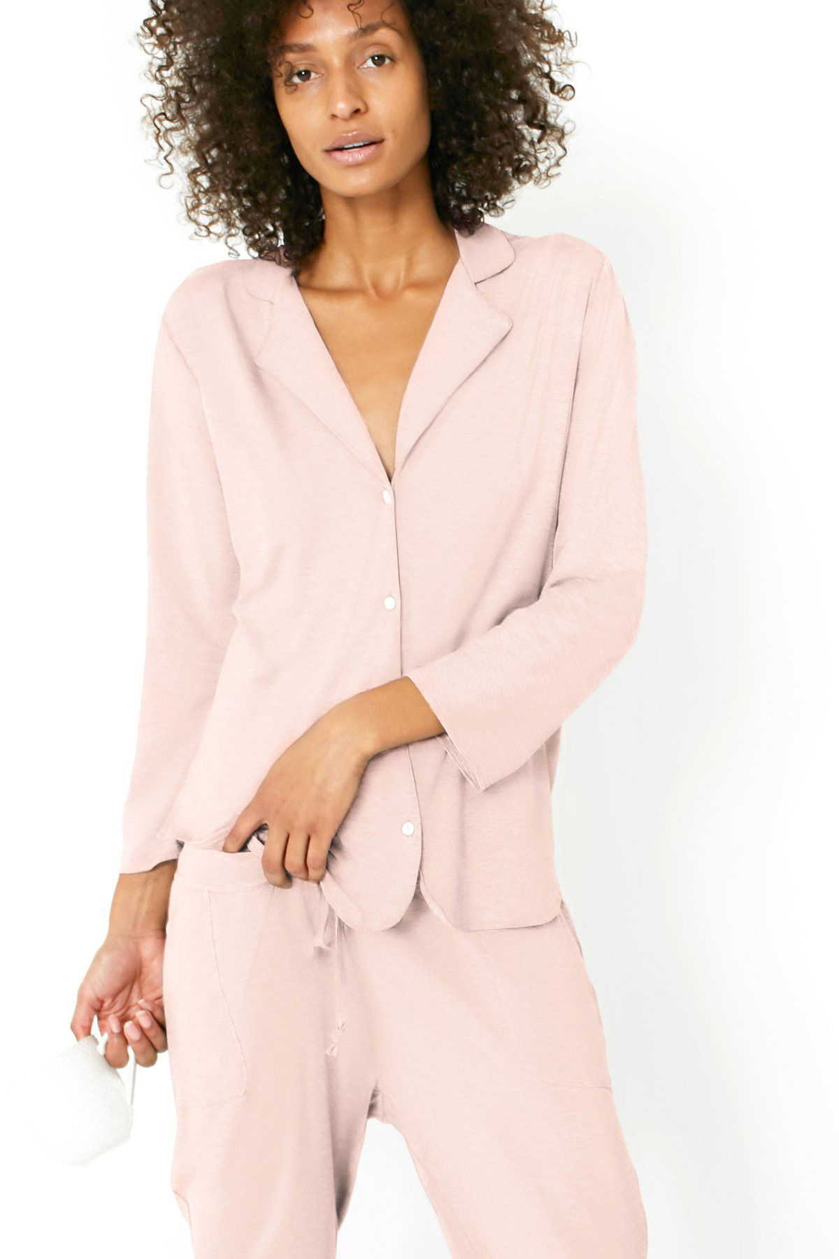 Recliner NYC Classic PJ Set in Blush