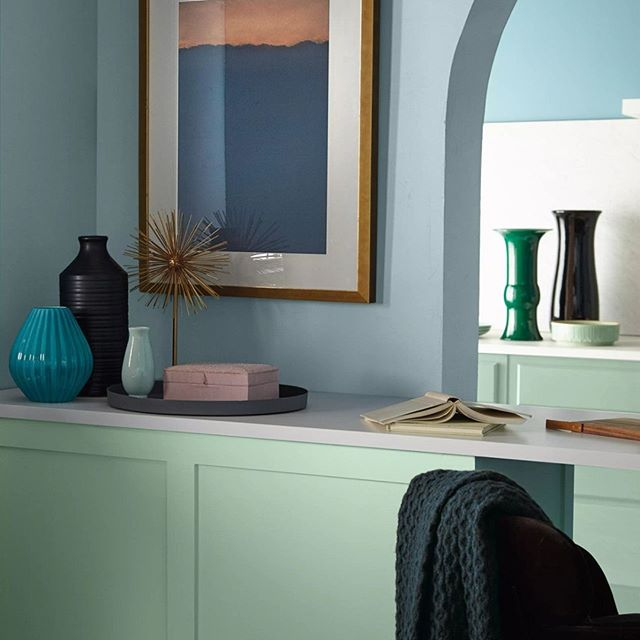 mix of paint color trends from Behr