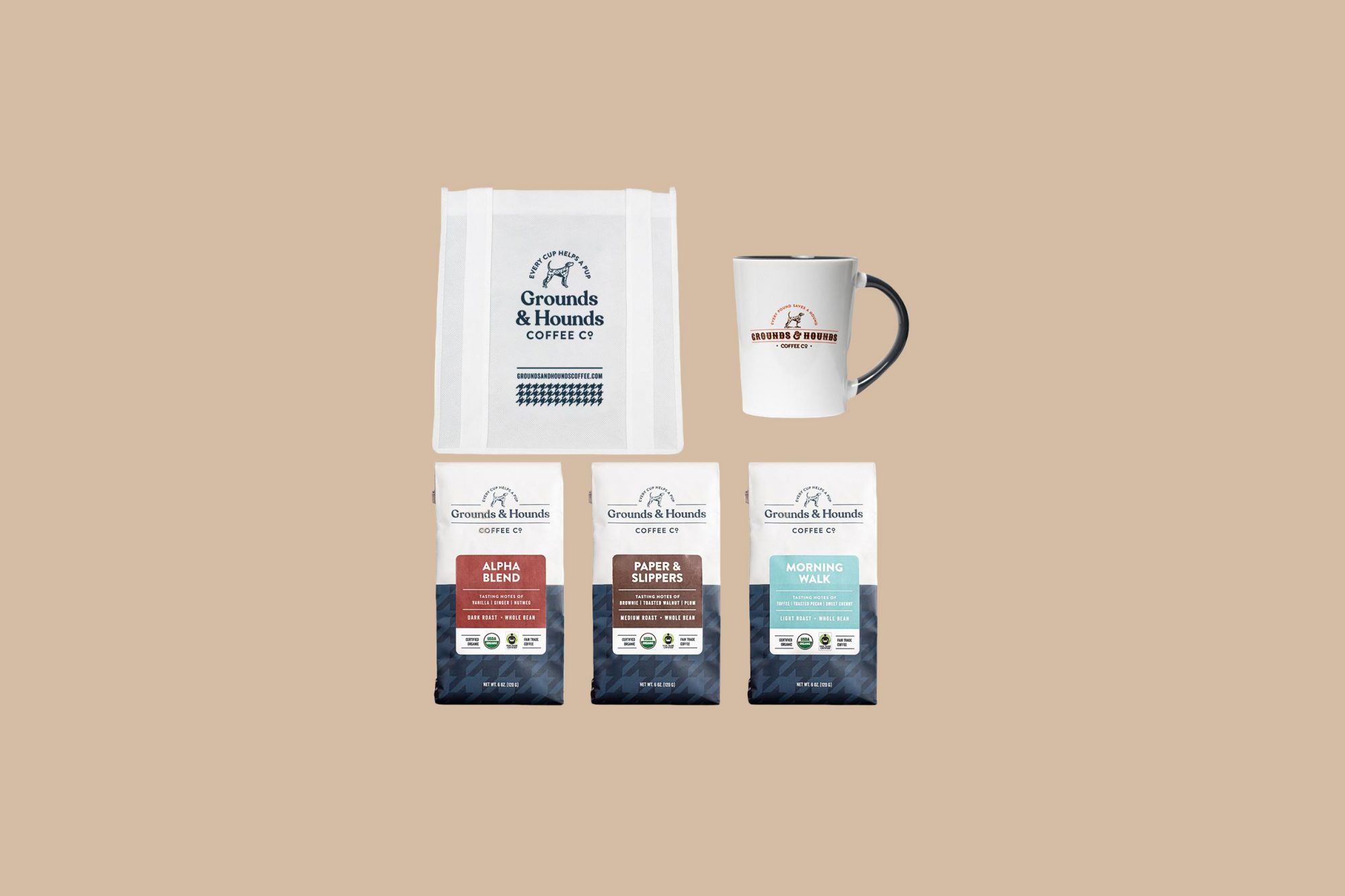 "Grounds & Hounds Coffee Co. ""Sunrise Rescue"" Gift Pack"