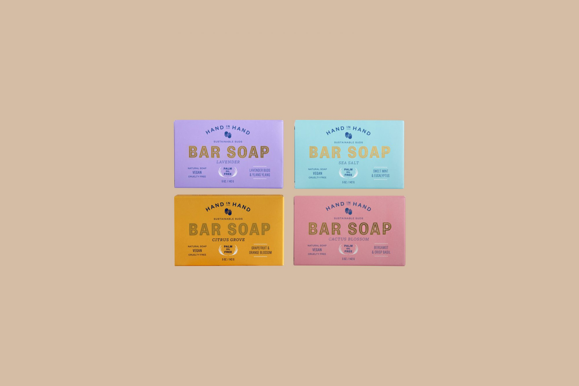 Hand in Hand Bar Soap Set