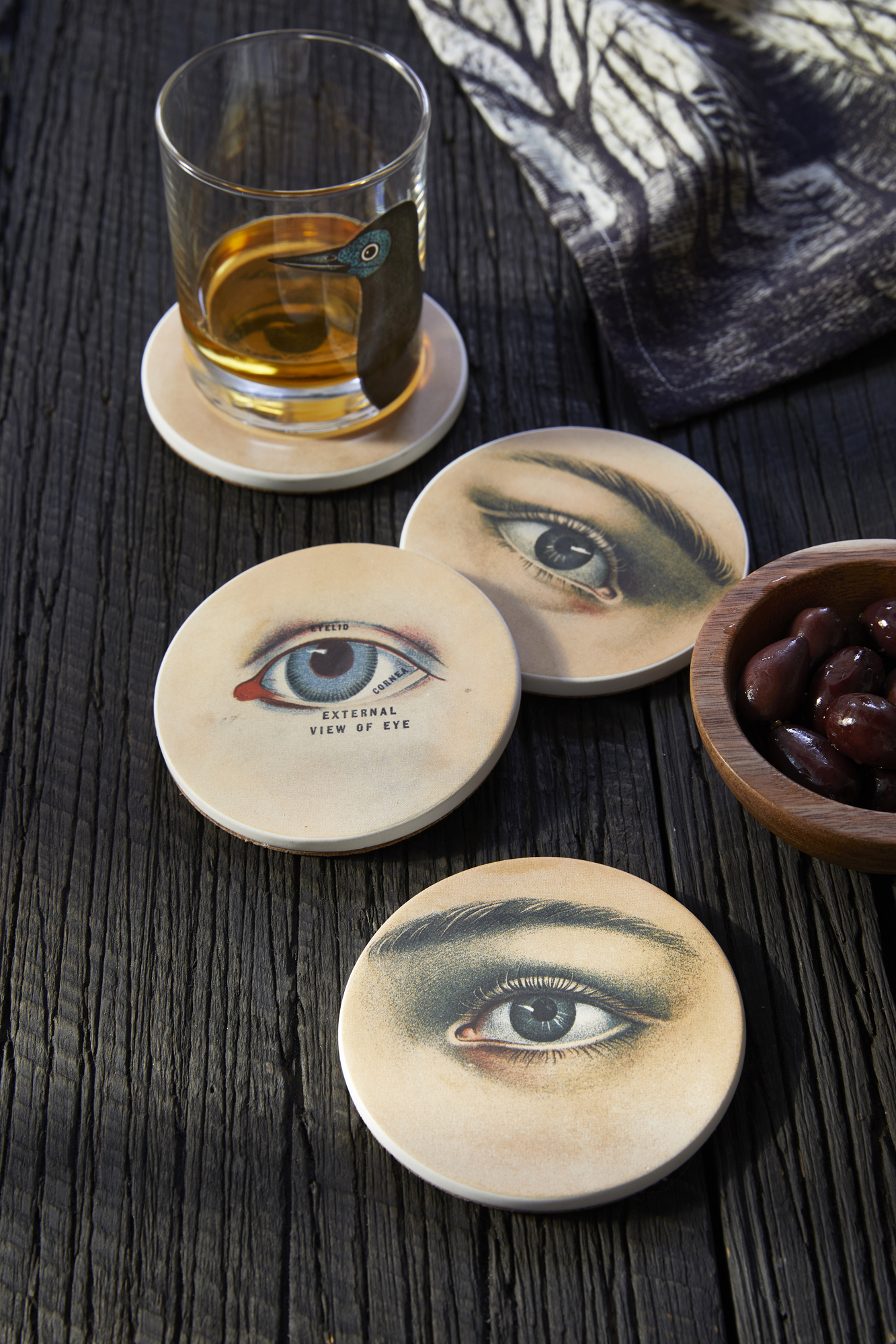 john derian halloween collection for target coasters