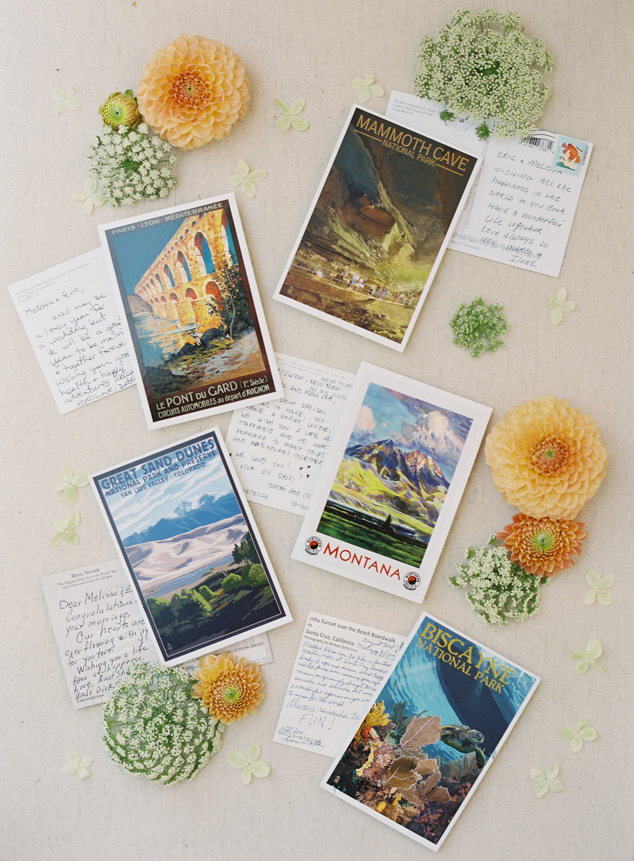 graphic post cards with wedding well wishes