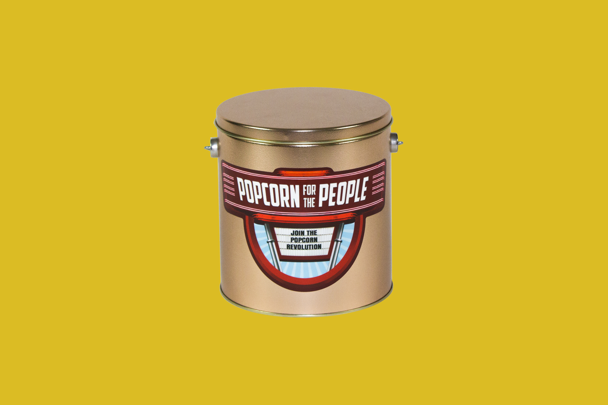 Popcorn for the People Custom Tin