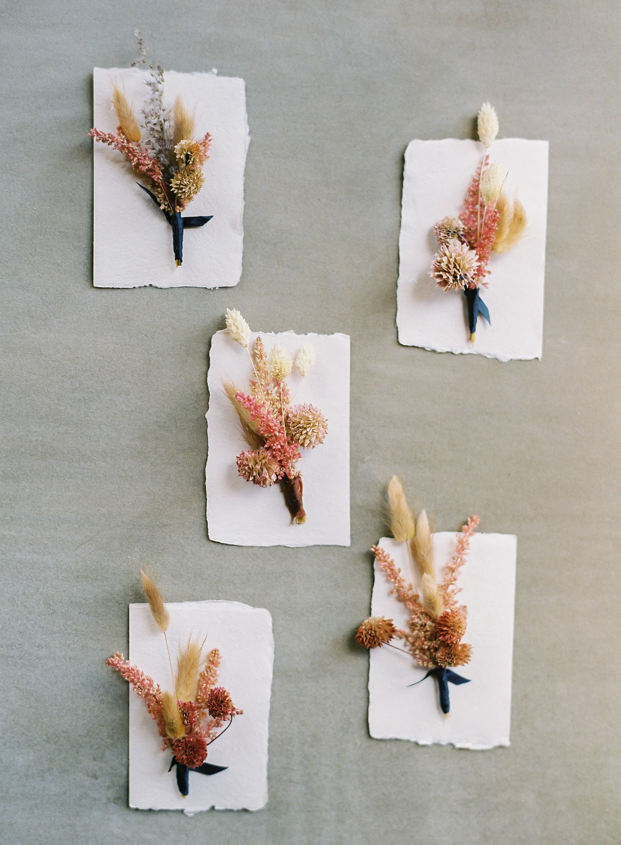 dried flower wedding boutonnieres