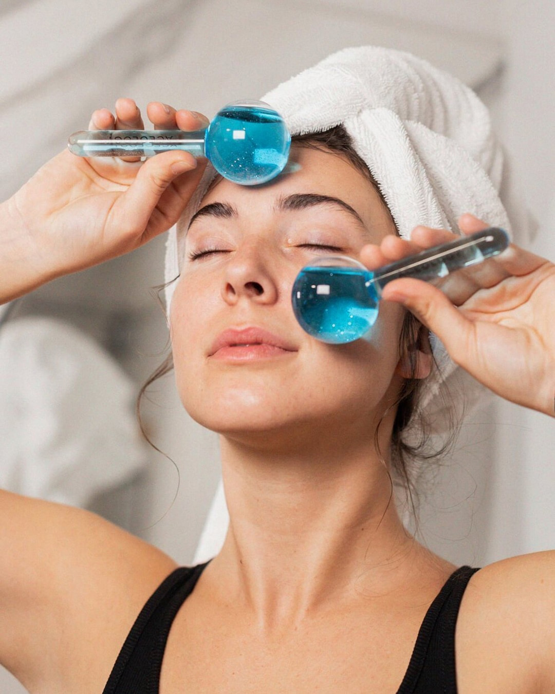 Aceology Blue Ice Globe Facial Massagers