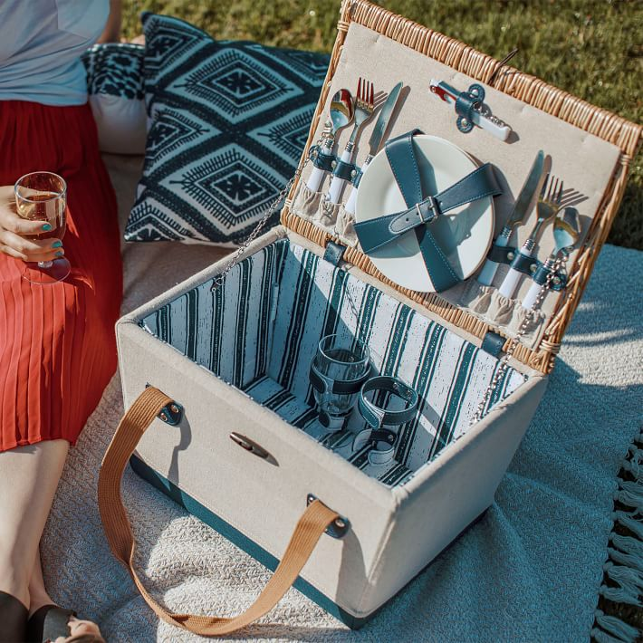 West Elm Natural Park Picnic Basket