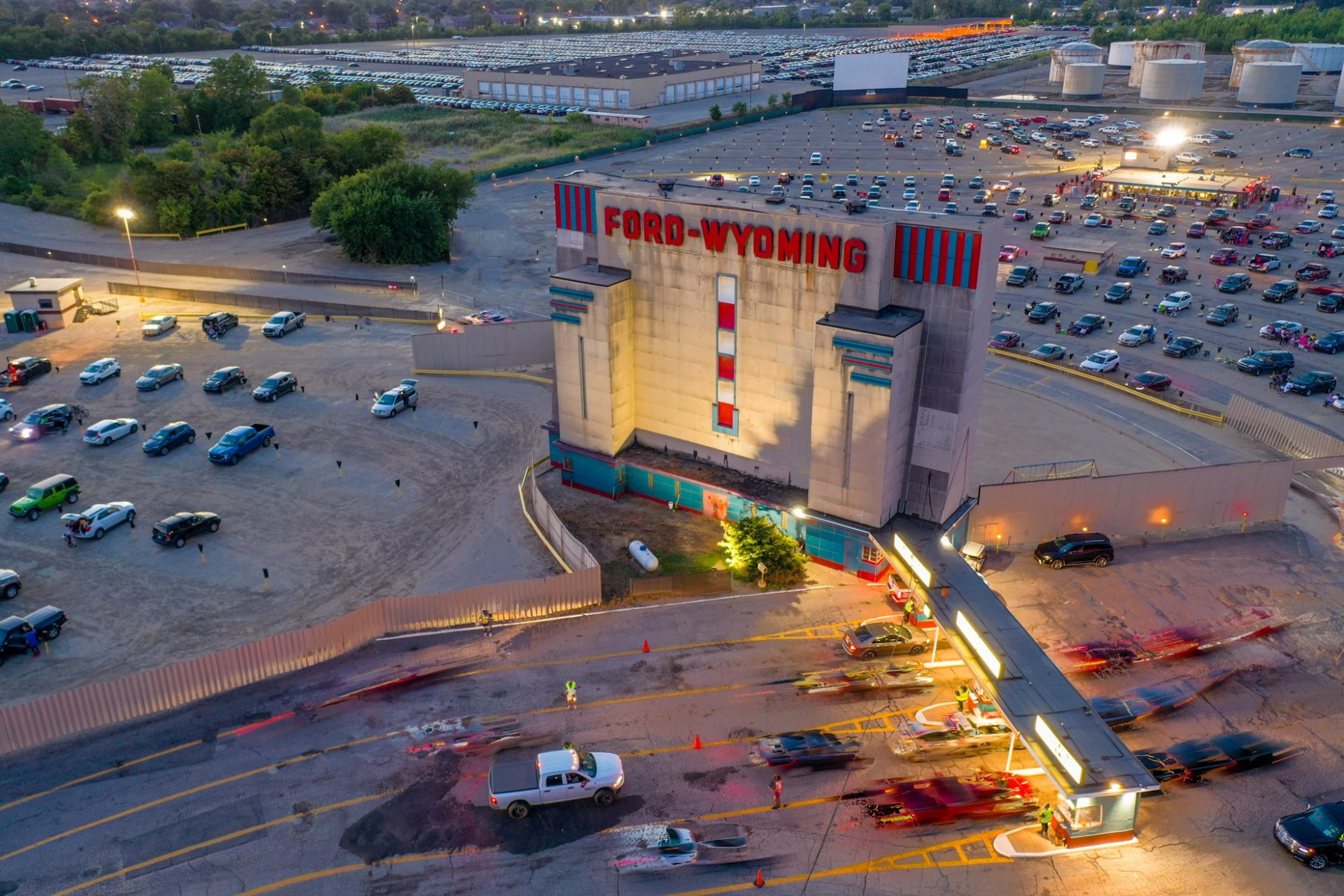 aerial view of Ford Wyoming Drive In Theatre