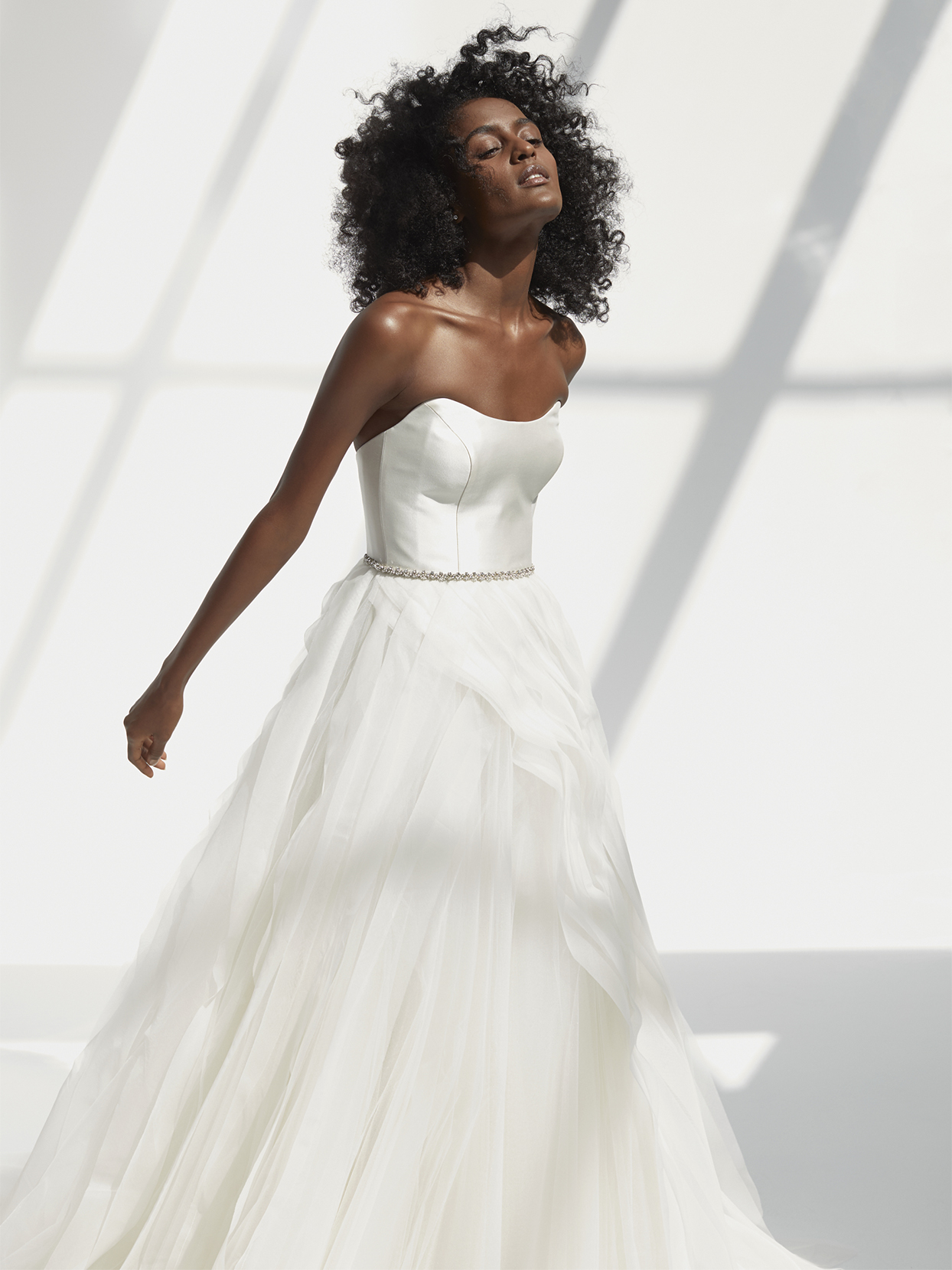 Amsale strapless a-line wedding dress fall 2021
