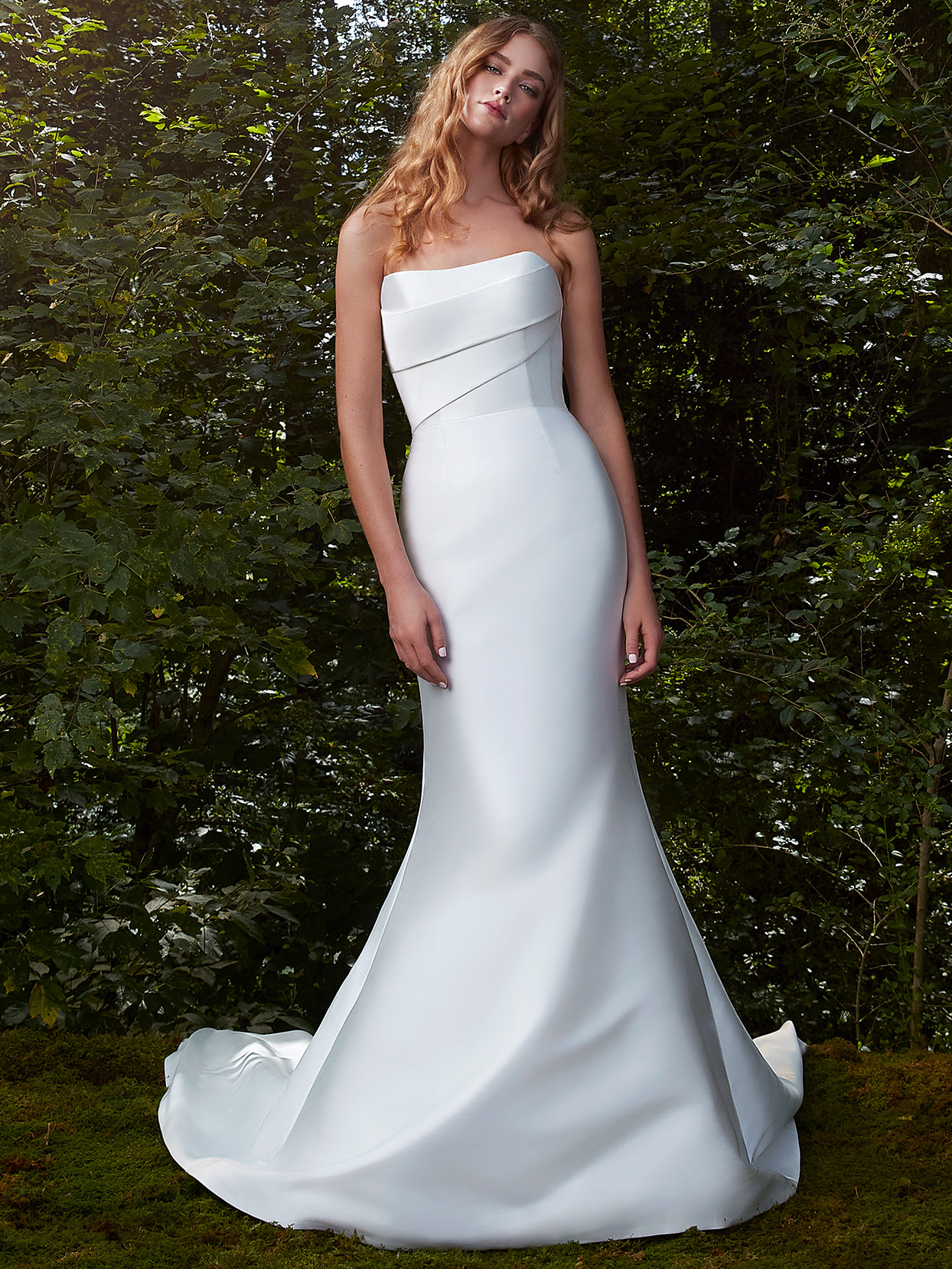 Anne Barge fitter strapless wedding dress fall 2021