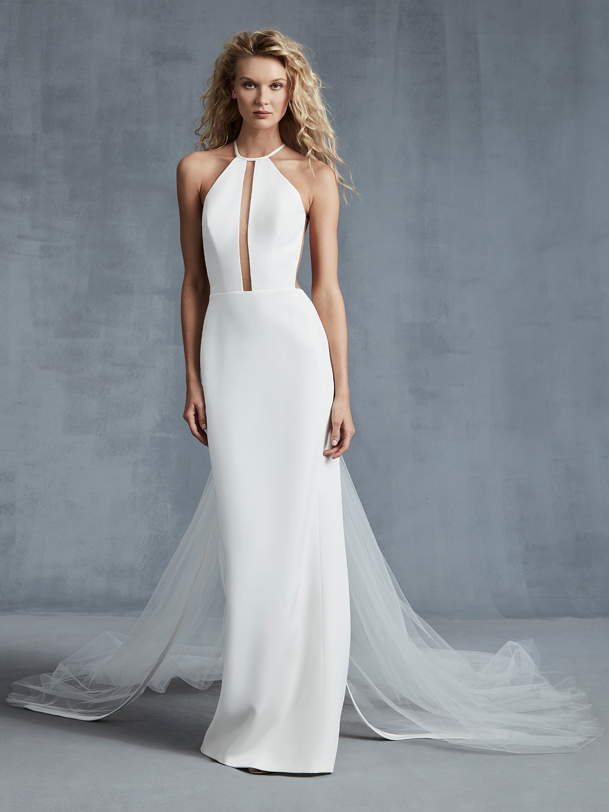 Ines Di Santo halter neck sleeveless wedding dress fall 2021
