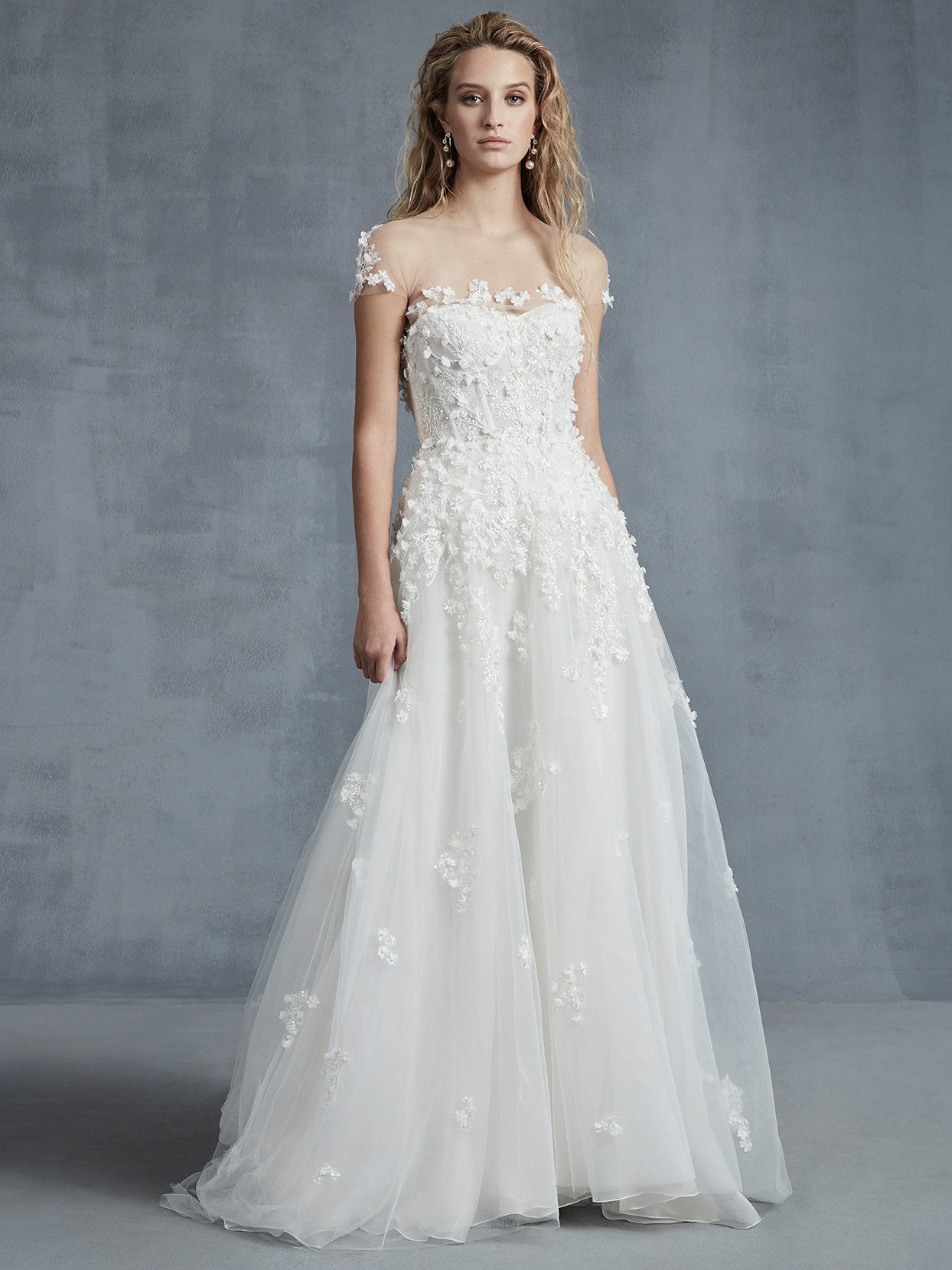 Ines Di Santo tulle skirt a-line wedding dress fall 2021