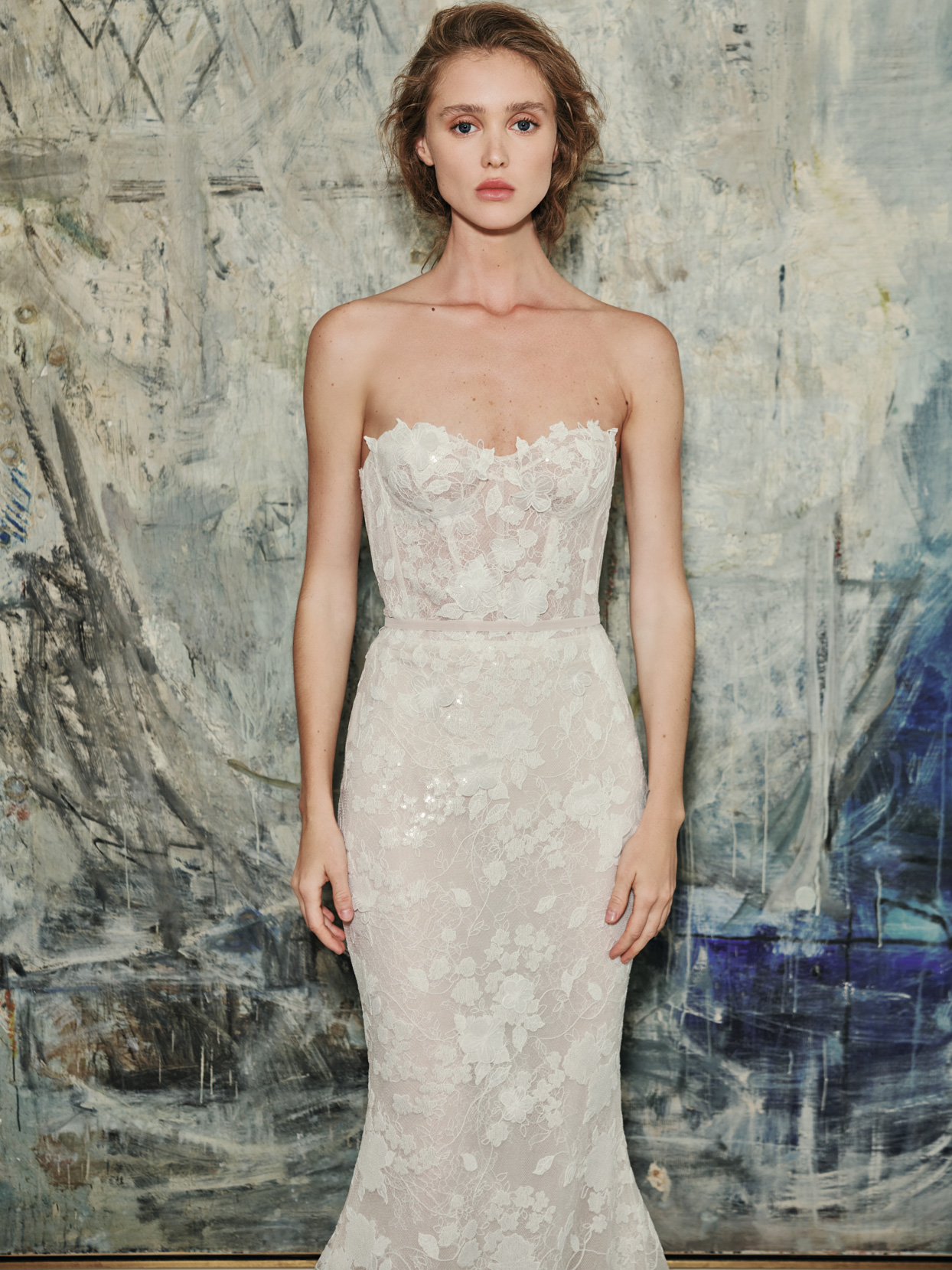 mira zwillinger sweetheart exposed ribbing wedding dress fall 2021