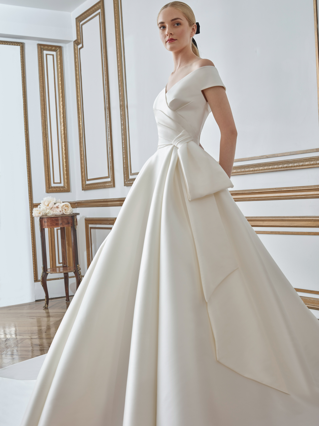 sareh nouri ball gown v-neck wedding dress fall 2021