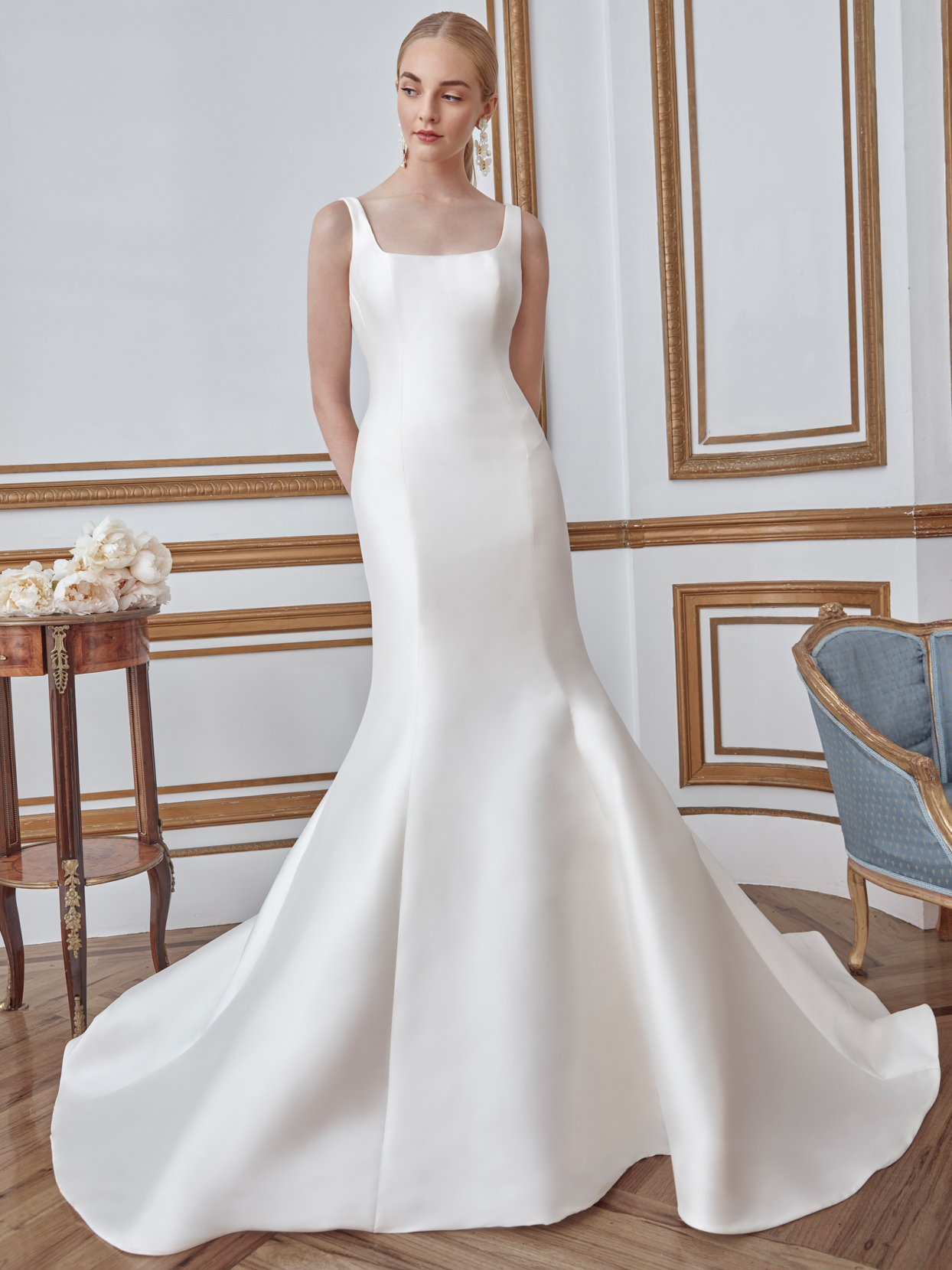 sareh nouri square neck mermaid wedding dress fall 2021